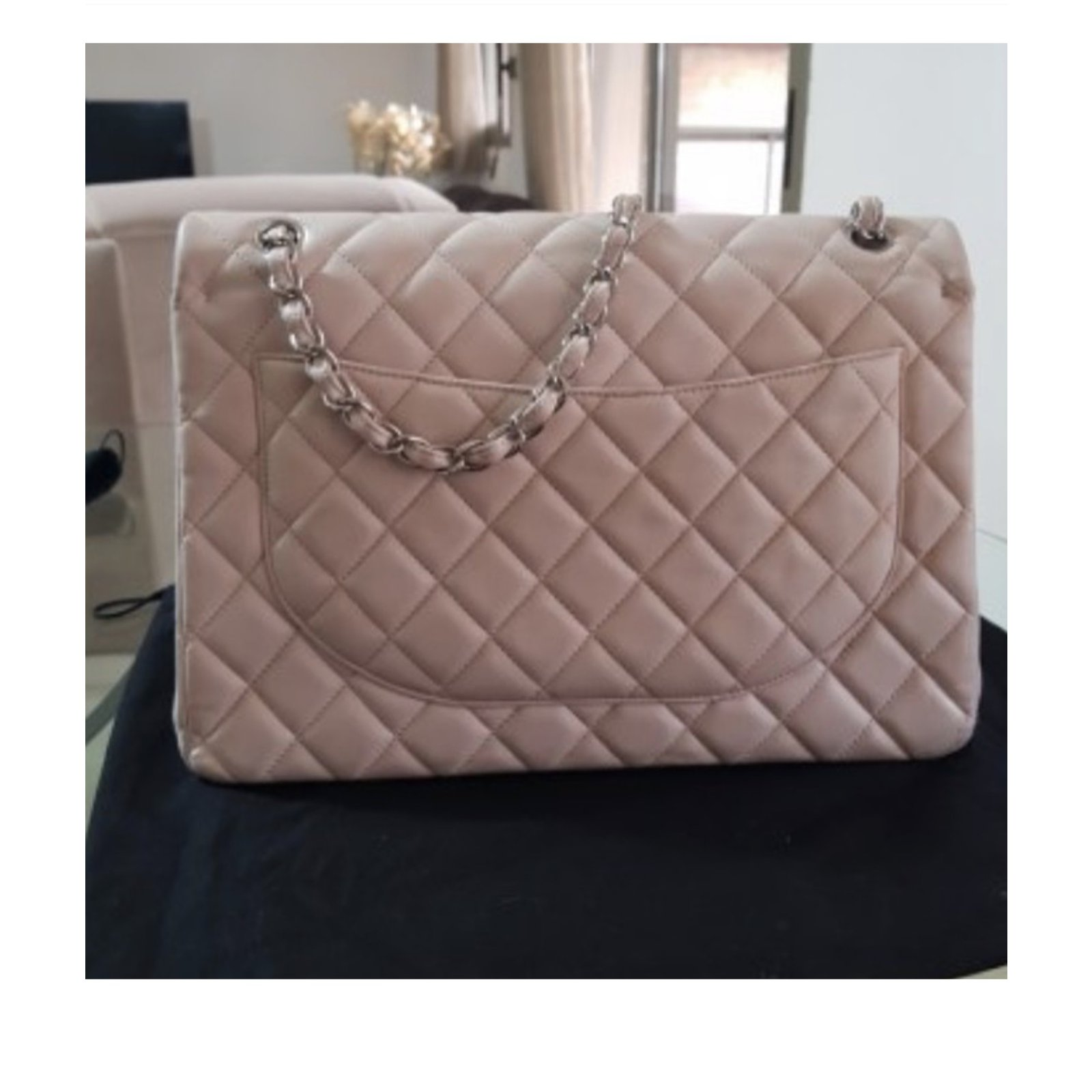 46844e3bd0fc Chanel Timeless maxi lined flap Handbags Leather Pink ref.76328 - Joli  Closet