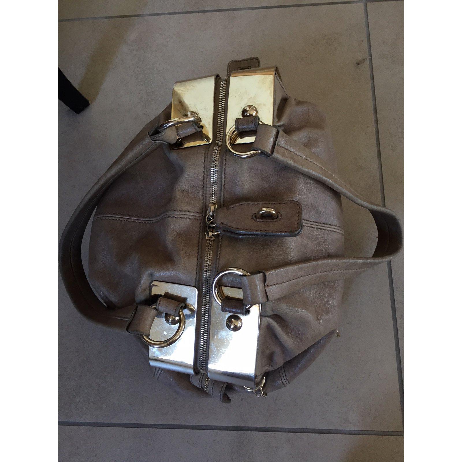 Dolce   Gabbana karen Handbags Leather Brown ref.76585 - Joli Closet b0c9137013af5