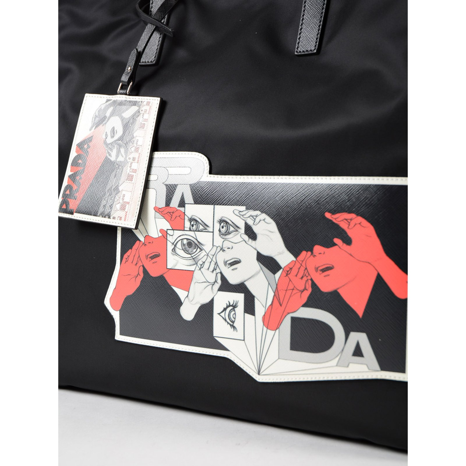 Prada nylon tote bag Handbags nylon Black ref.76590 - Joli Closet 223d63f155