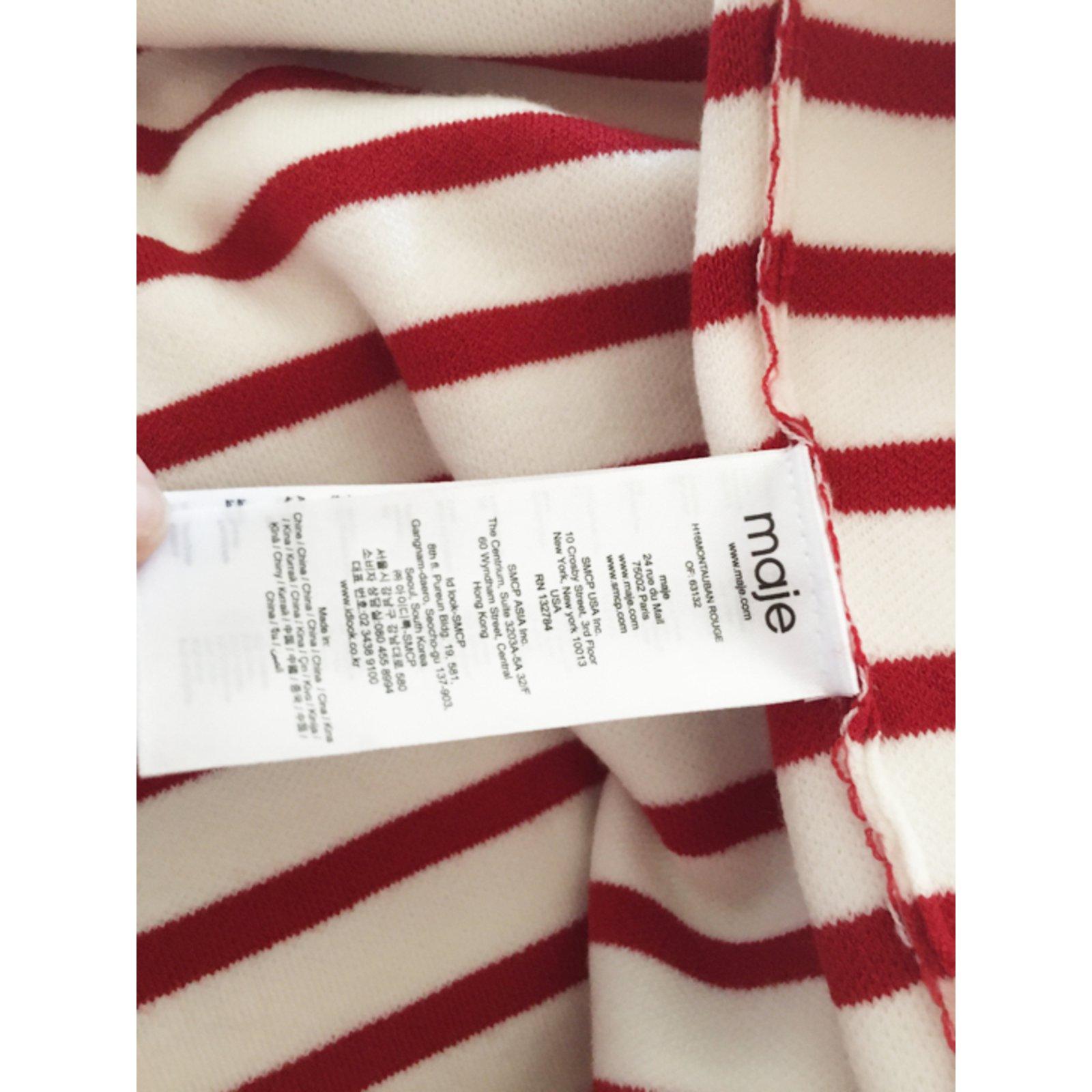 pull rayé rouge montauban maje