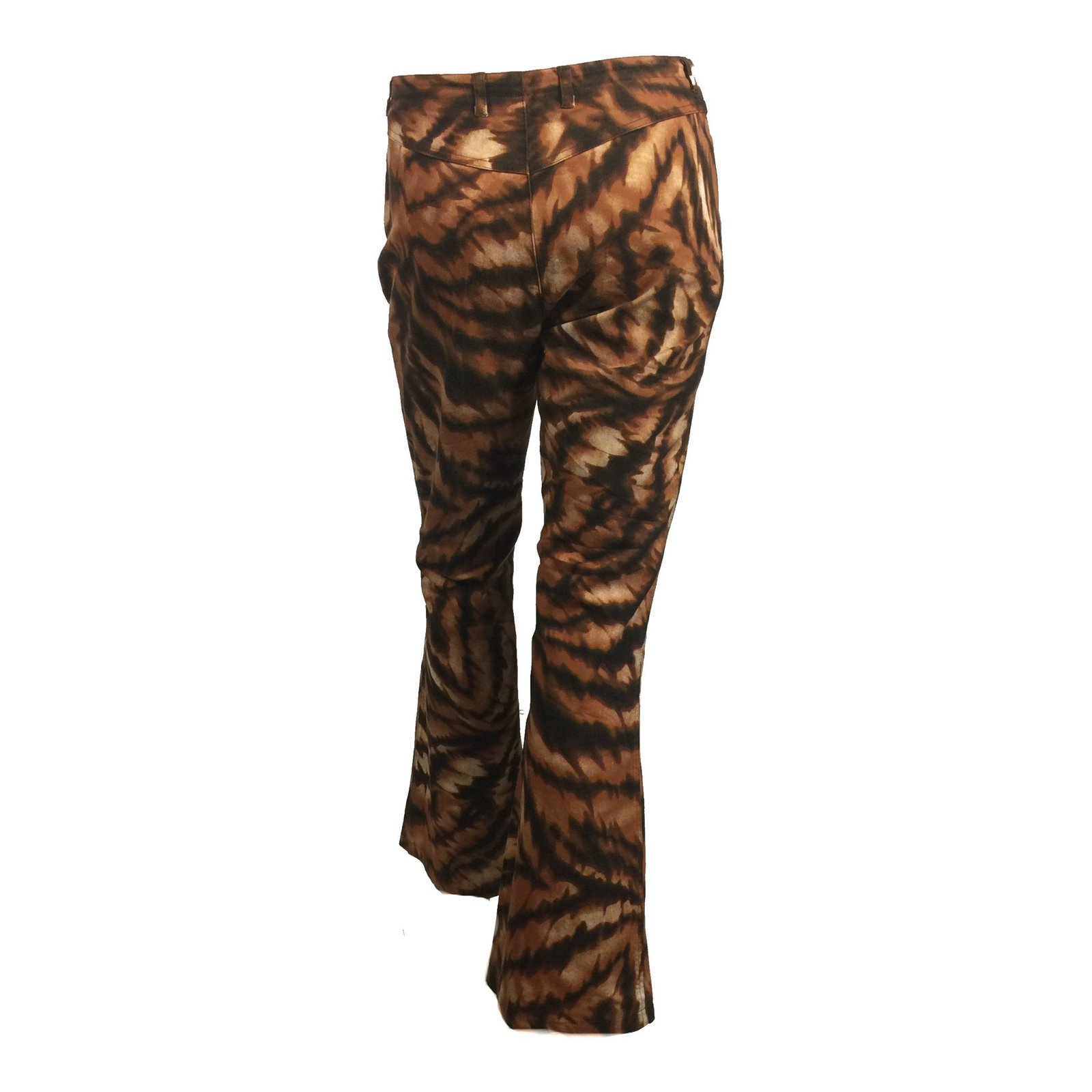 6f45bc8d3edb Escada Animal print trousers Pants, leggings Cotton,Elastane Brown  ref.77909 - Joli Closet