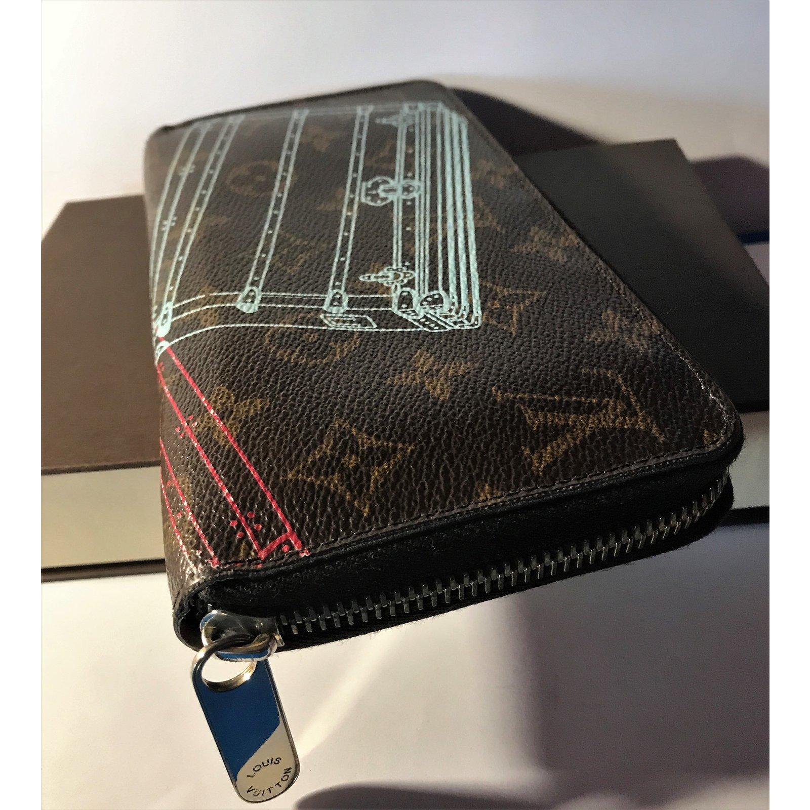 5a16b1928bbc Portefeuilles Louis Vuitton Portefeuille Zippy- Édition Limitée Série   voyages  Cuir Multicolore ref.77722 - Joli Closet