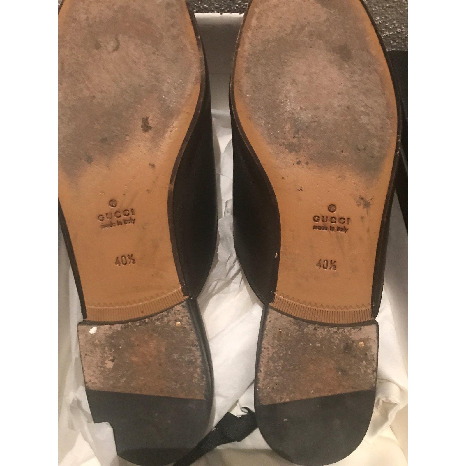 5494e360dc3 Gucci Princetown Mules Mules Leather Black ref.78615 - Joli Closet