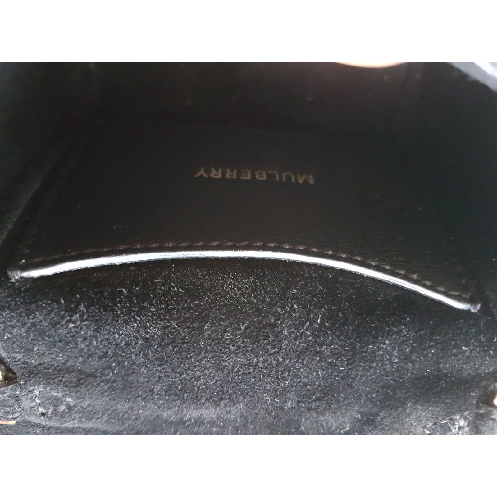 Mulberry Mini Lily cookie bag Handbags Leather Black ref.78648 - Joli Closet a604dcb23d9a6