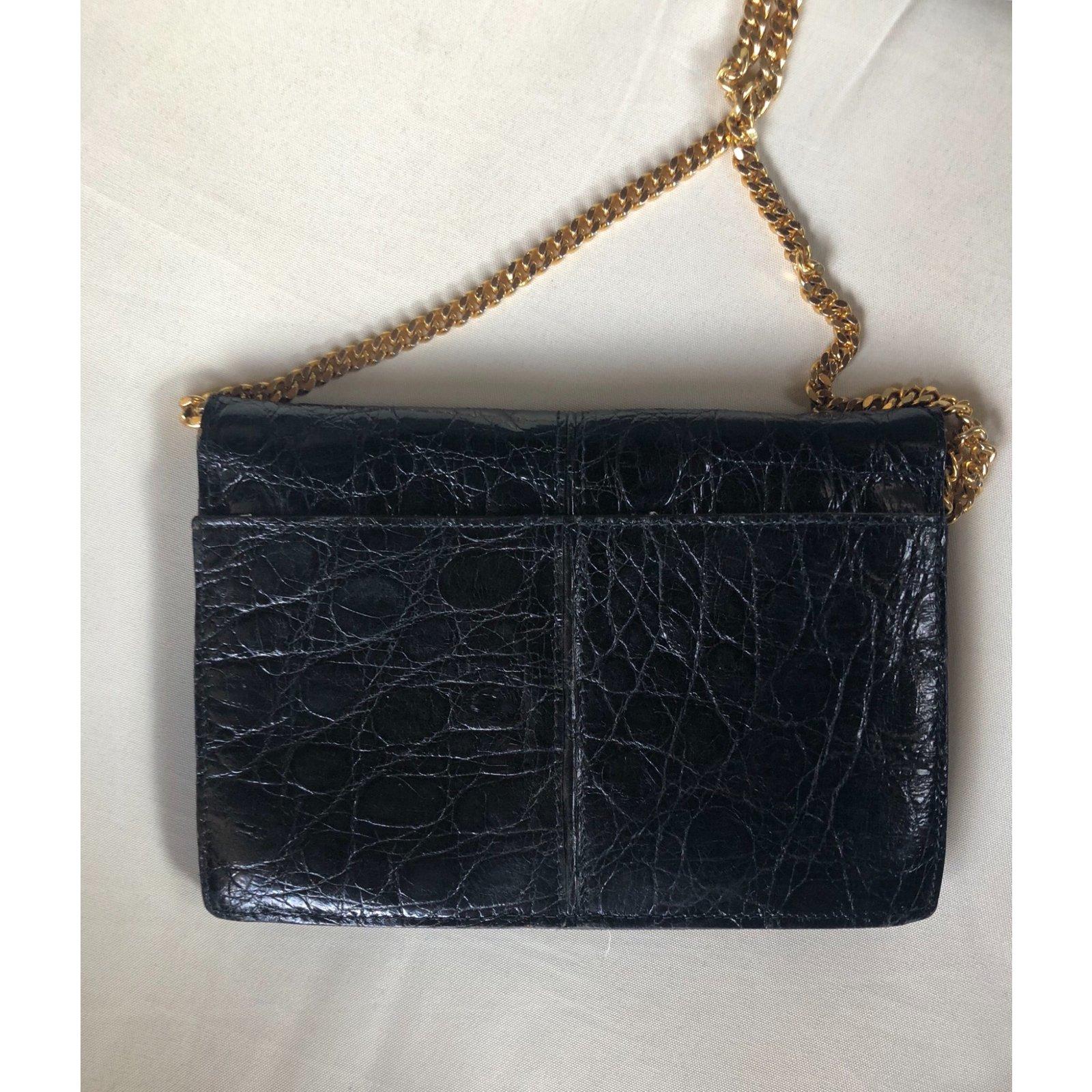 8a6dd2258c2e Céline Clutch bags Clutch bags Exotic leather Black ref.79080 - Joli Closet