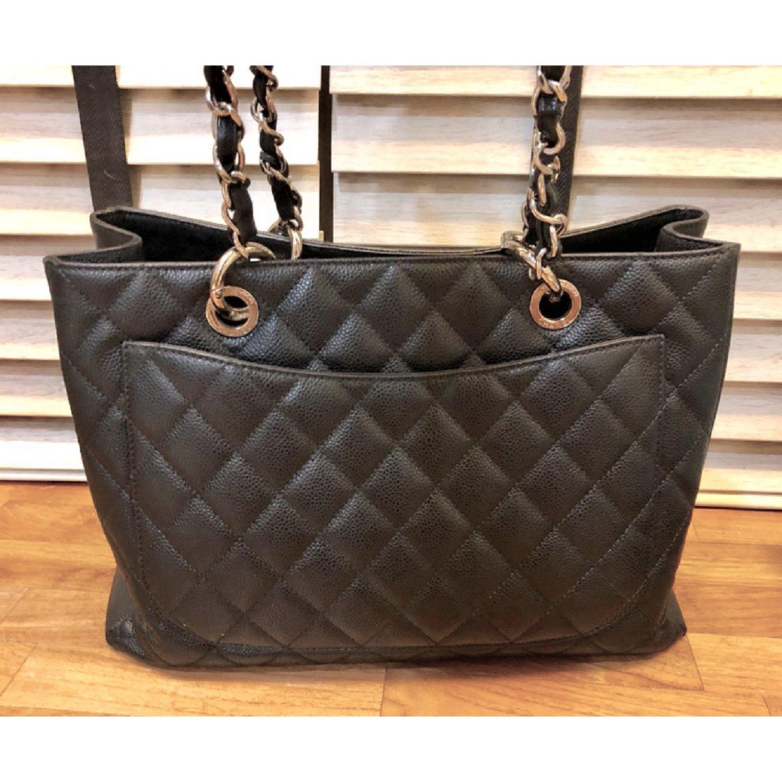 b35514126af7 Chanel GST tote bag Black Caviar Leather Totes Leather Black ref.79754 -  Joli Closet