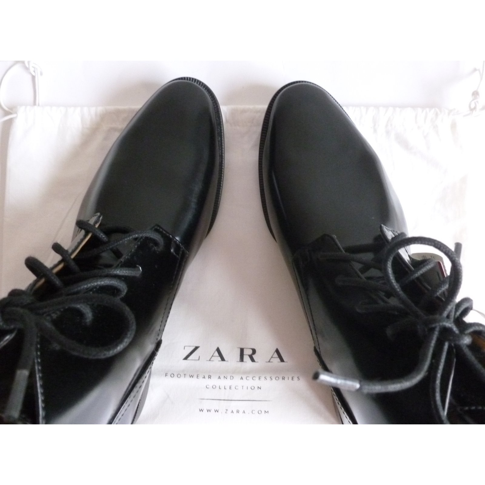 af26d3ddb57 Zara Lace up shoes ZARA Lace ups Synthetic Black ref.80253 - Joli Closet