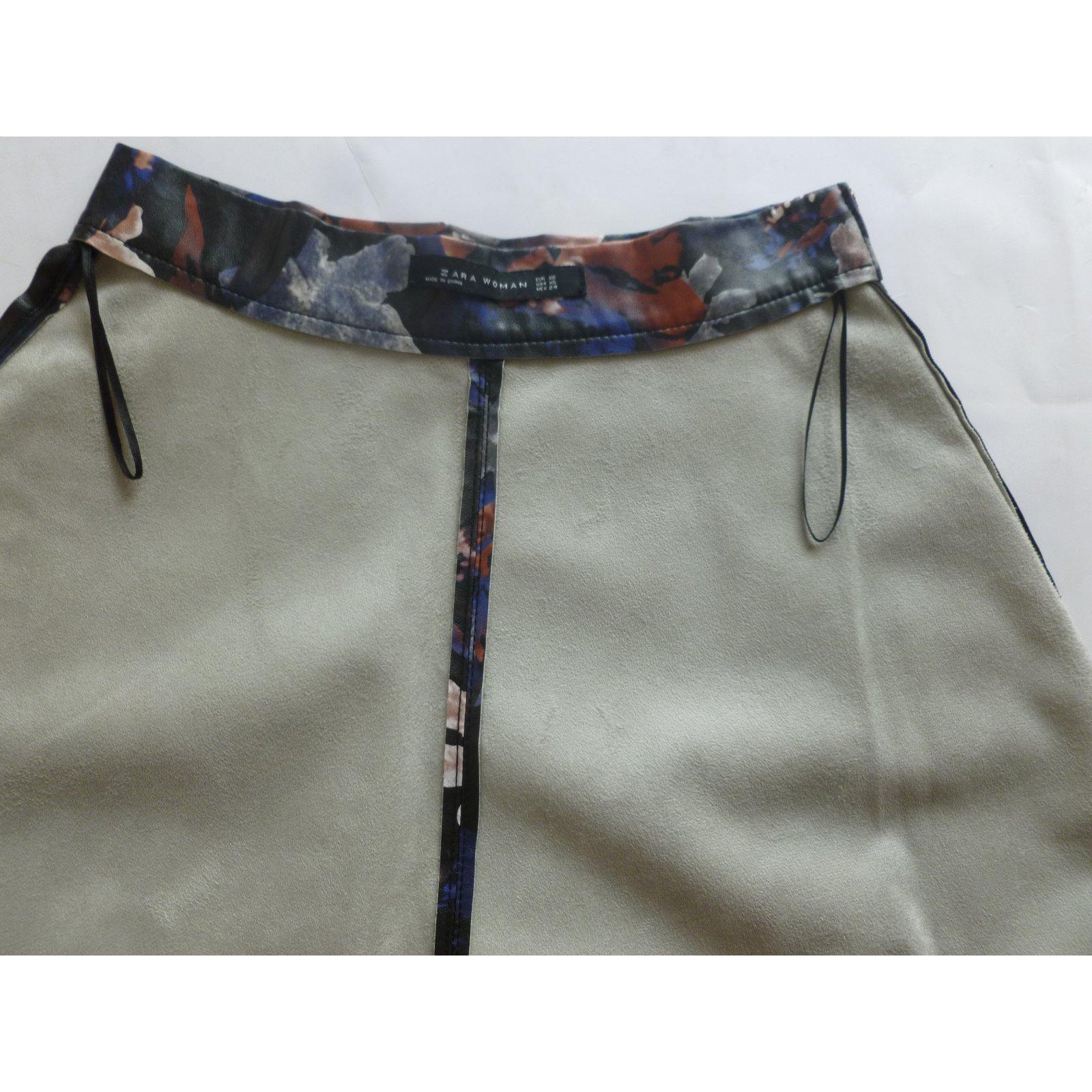 ee66e5d4df Zara Faux leather midi skirt Skirts Other Multiple colors ref.80499 - Joli  Closet