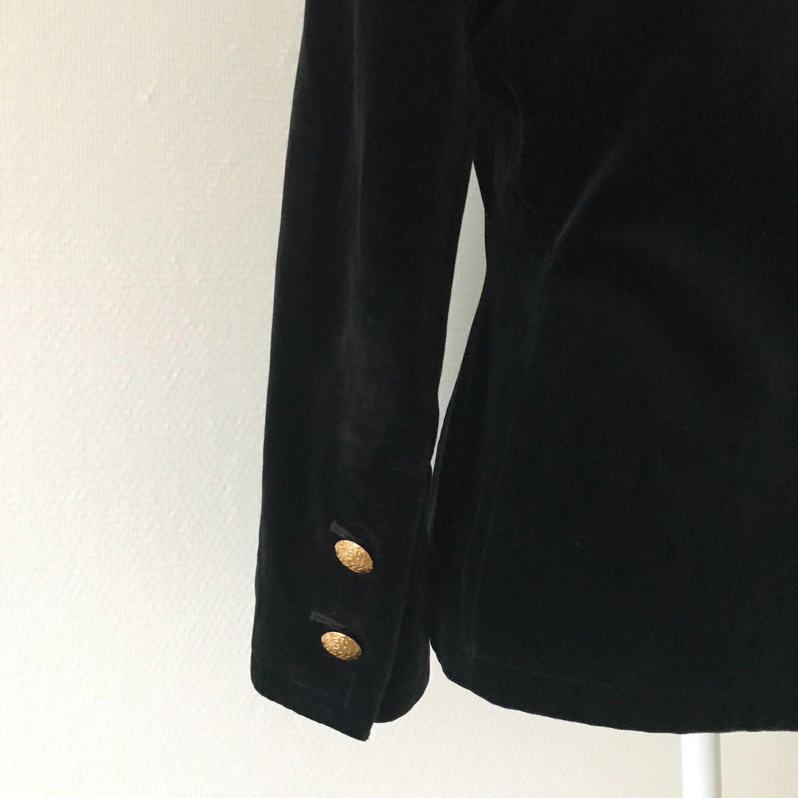 9d3566e3035 Facebook · Pin This. Yves Saint Laurent Jackets Jackets Velvet Black ...