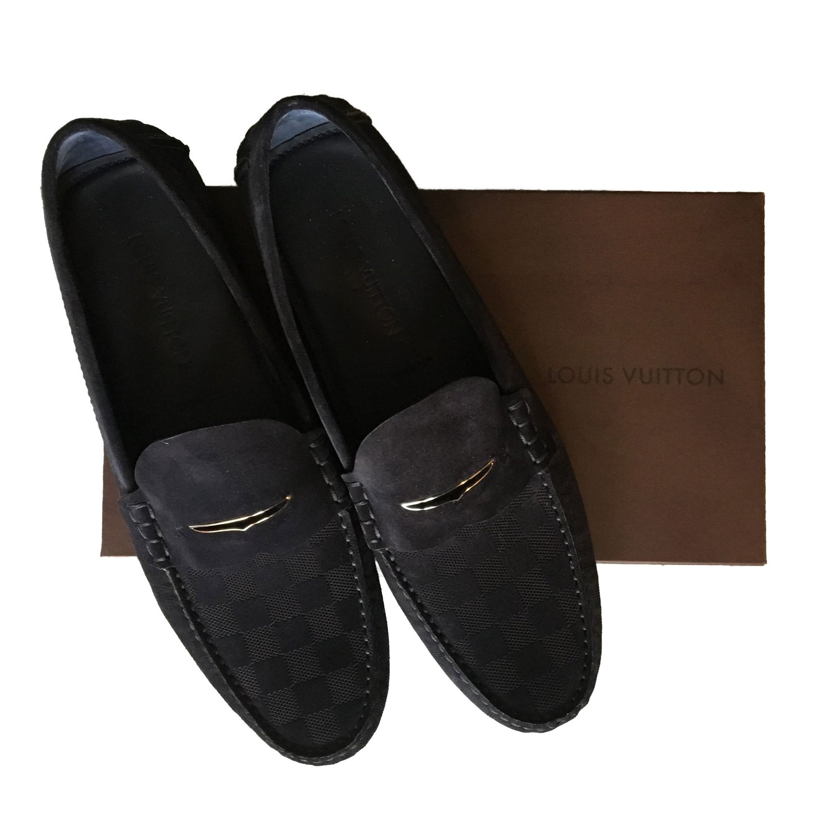 7a3a051f7a8 Louis Vuitton Loafers Slip ons Loafers Slip ons Other Navy blue ref.80593 -  Joli Closet