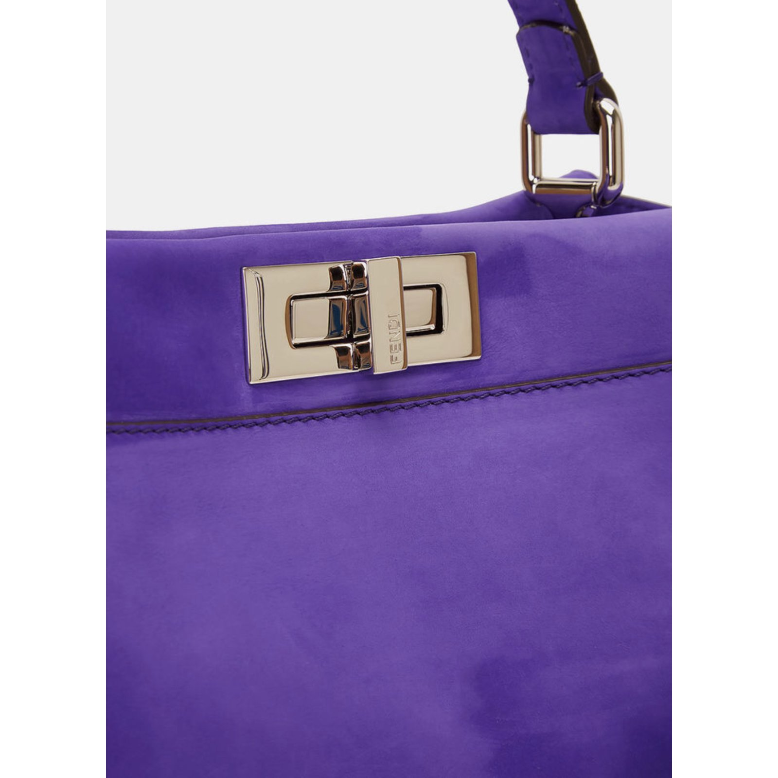 9369b431020 Fendi Peekaboo regular size Handbags Suede Purple ref.80776 - Joli Closet