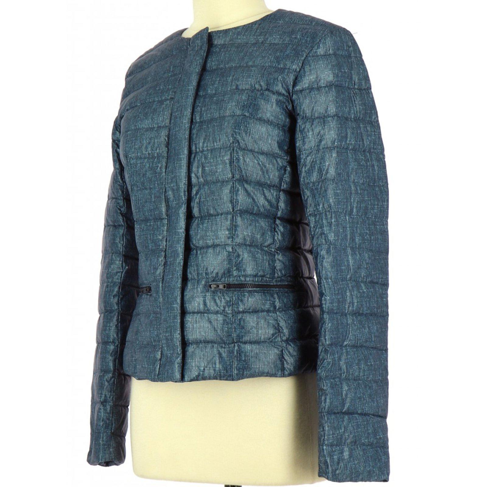 Manteaux CAROLL Doudoune   Parka Polyester Bleu Marine ref.80795 - Joli  Closet 15849c36a9a