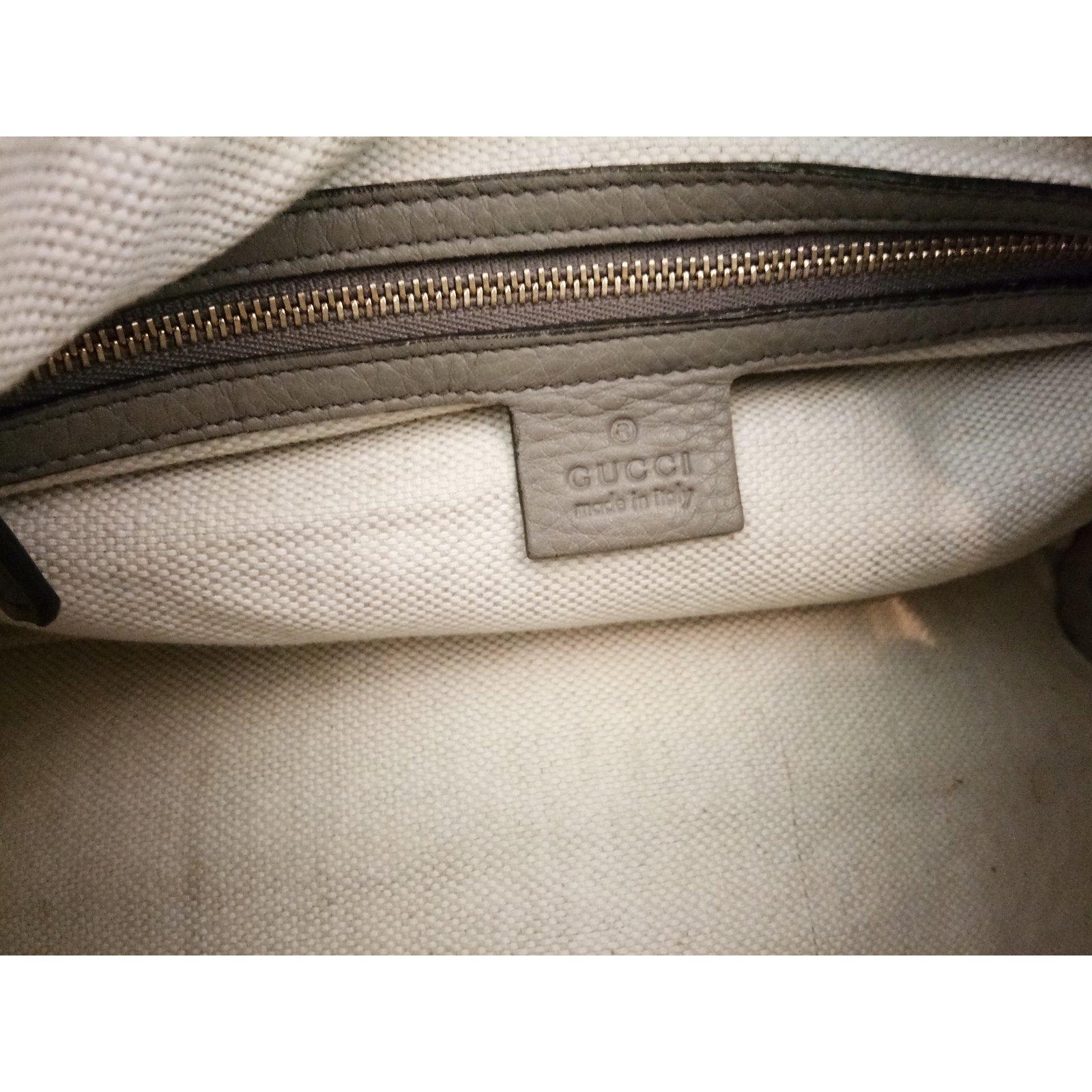 92829544597 Sacs à main Gucci Sac   Boston Soho   en cuir gris Cuir Gris ref.81647 -  Joli Closet