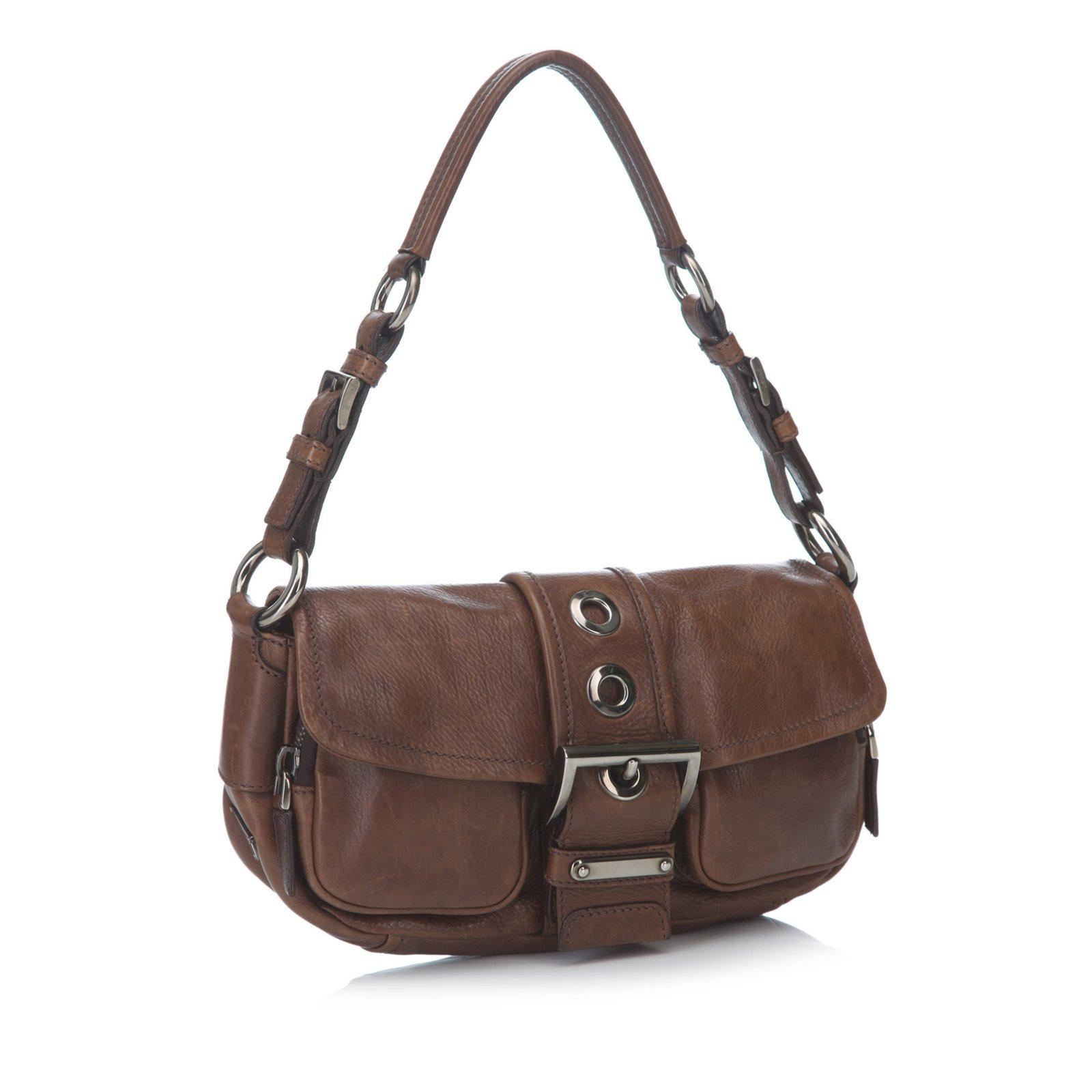 8bc32e55612c Prada Leather Shoulder Bag Handbags Leather