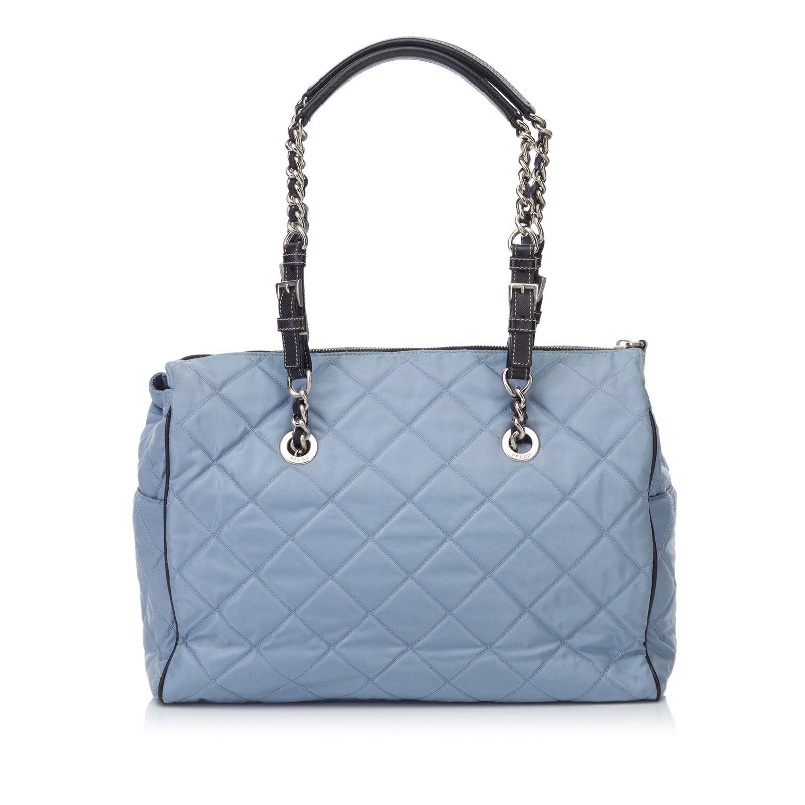 Prada Quilted Nylon Shoulder Bag Handbags Leather 5b783c2589a68