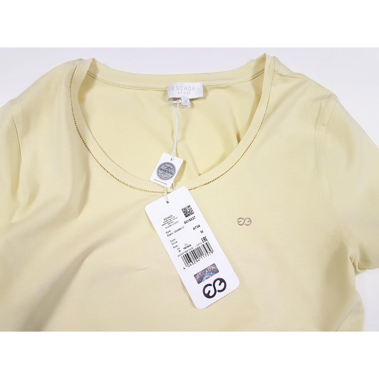 c64976b96a637b Escada Tops Tops Cotton Yellow ref.83393 - Joli Closet