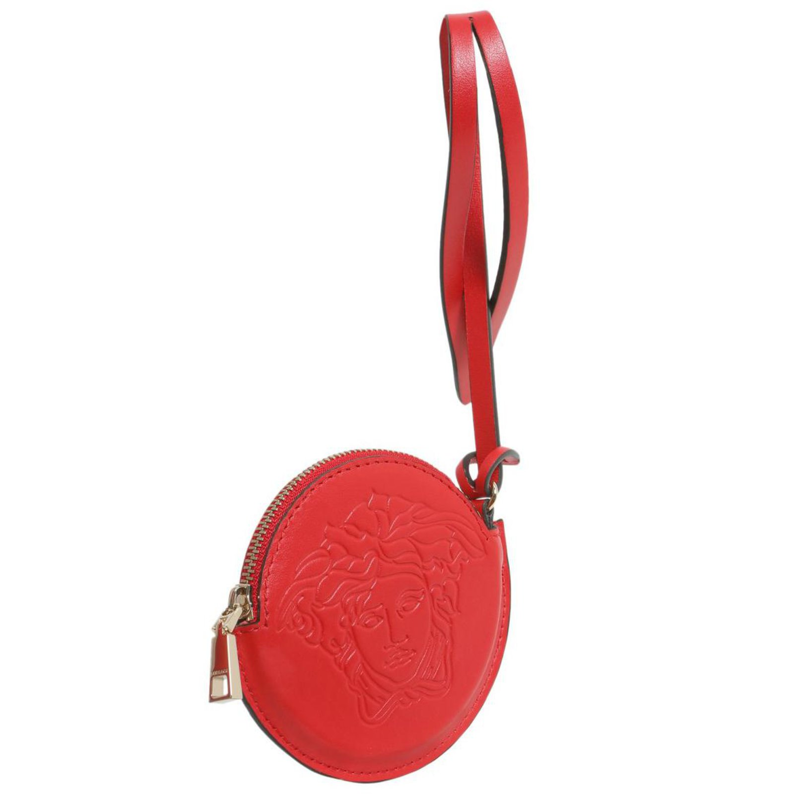 6449ba9cd24 Versace Versace leather medusa head charm Bag charms Leather Red ref.83533  - Joli Closet