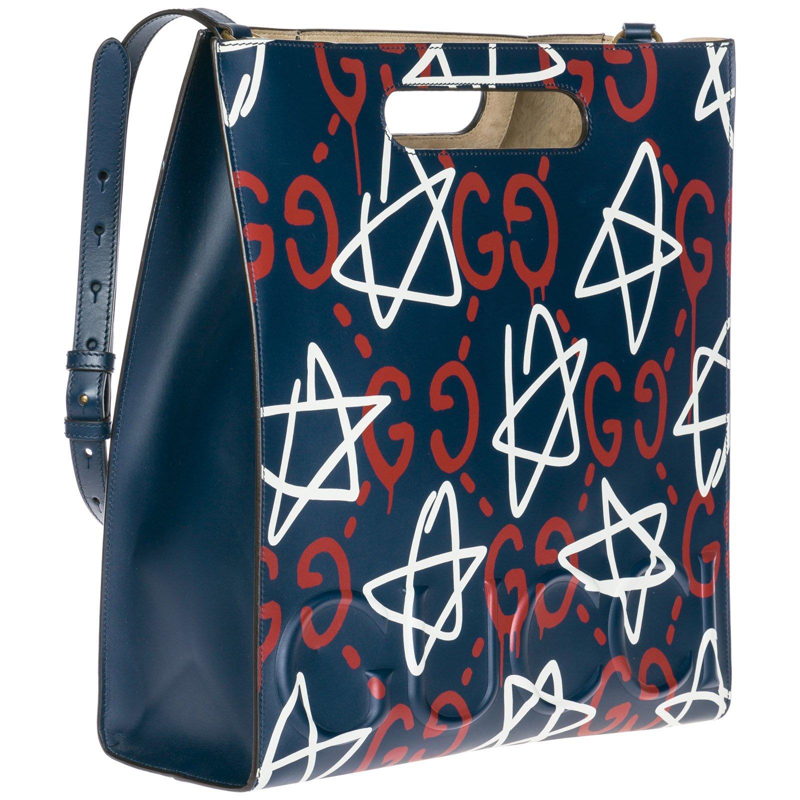 b129799421b837 Gucci Gucci ghost tote leather new Handbags Leather Blue ref.83587 - Joli  Closet