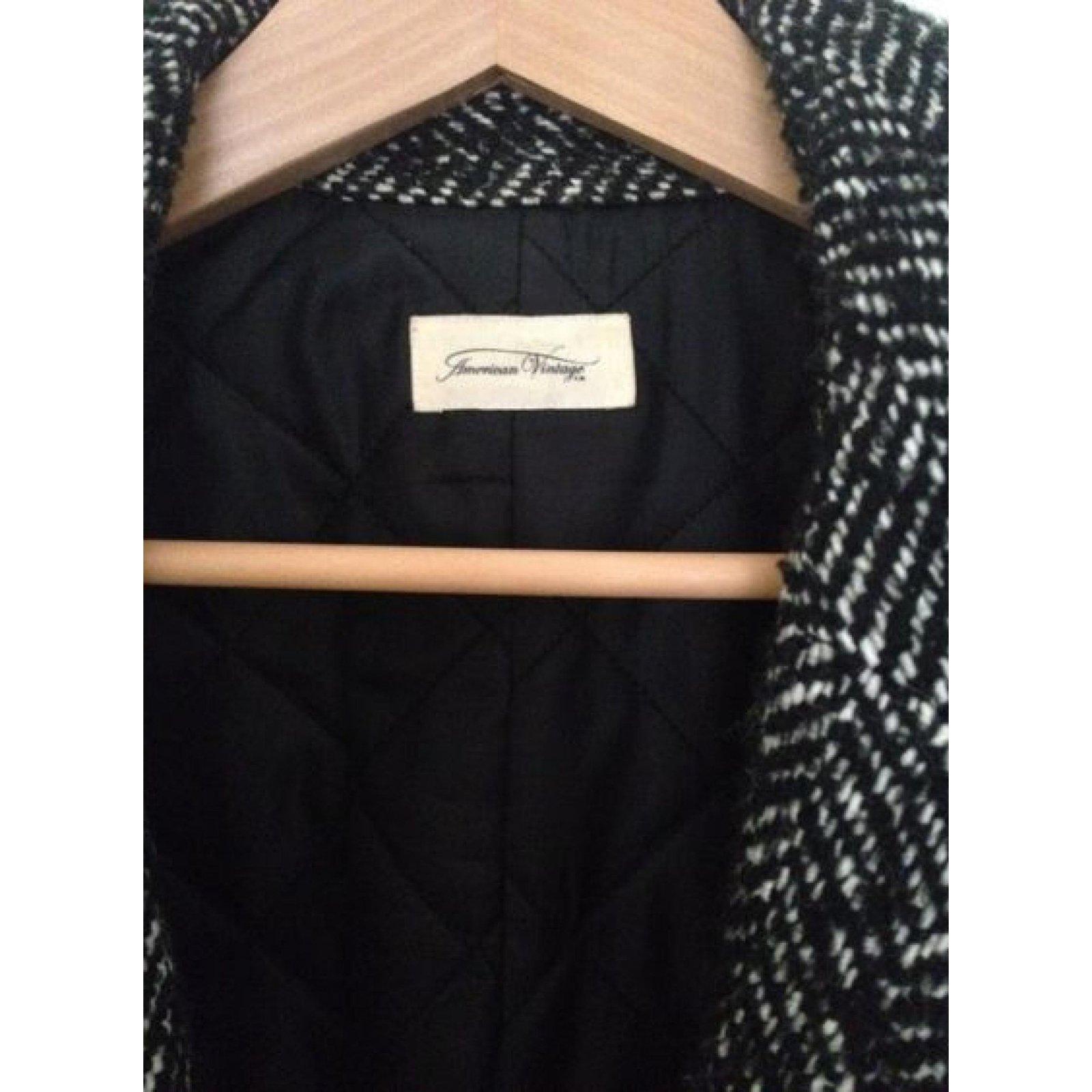 Manteaux American Vintage Manteaux Laine Gris ref.83895
