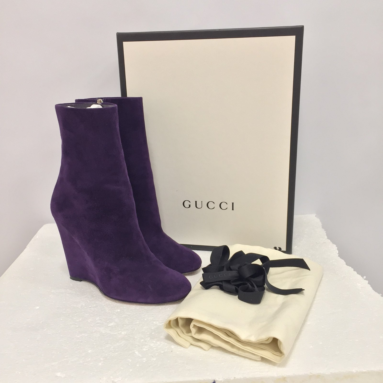 677936f6cc2c Gucci Ankle Boots Ankle Boots Suede Purple ref.84166 - Joli Closet