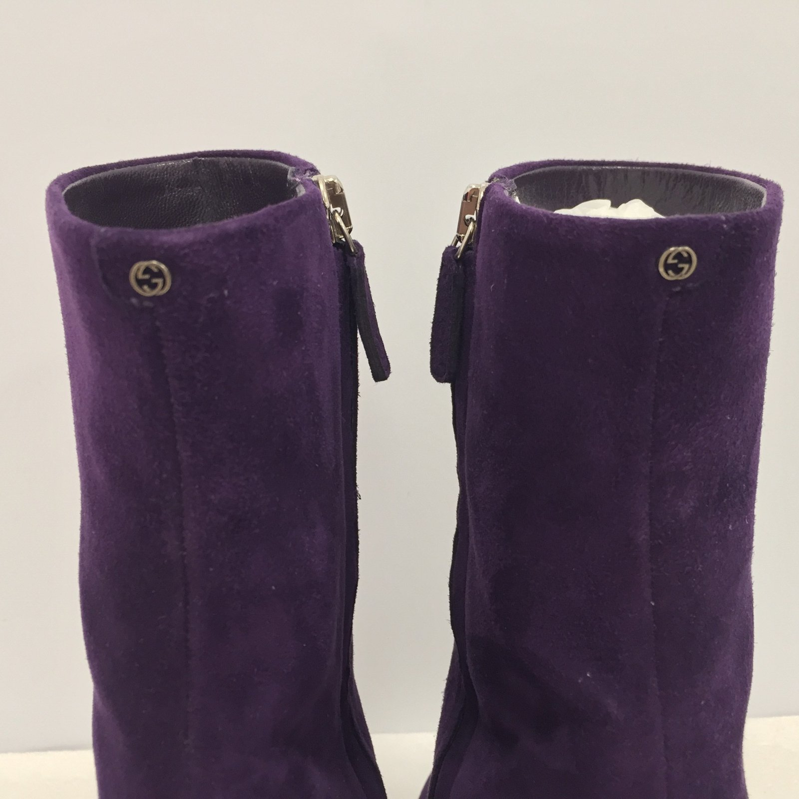 9f9ca49067c9 Facebook · Pin This. Gucci Ankle Boots Ankle Boots Suede Purple ref.84166