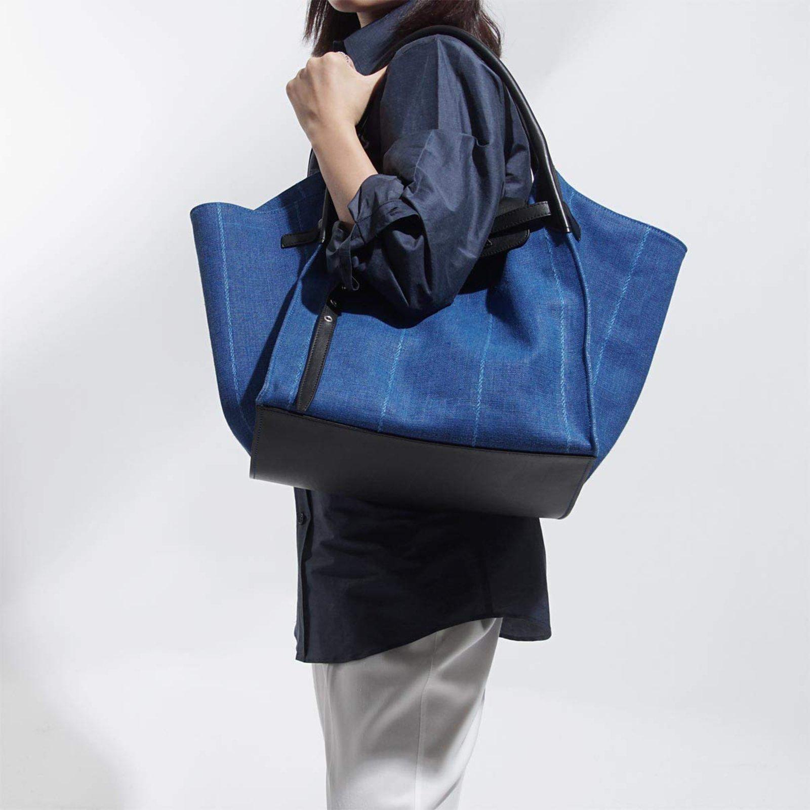 d07310b738 Céline big bag medium Handbags Denim Blue ref.84645 - Joli Closet