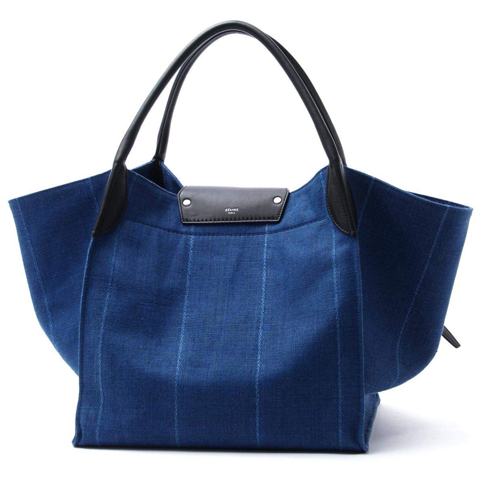 66575cec4763 Céline big bag medium Handbags Denim Blue ref.84645 - Joli Closet
