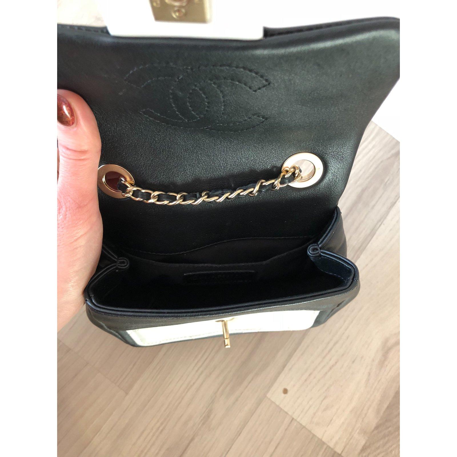 202a12212d0e Chanel Mini bag Handbags Leather Black ref.85060 - Joli Closet