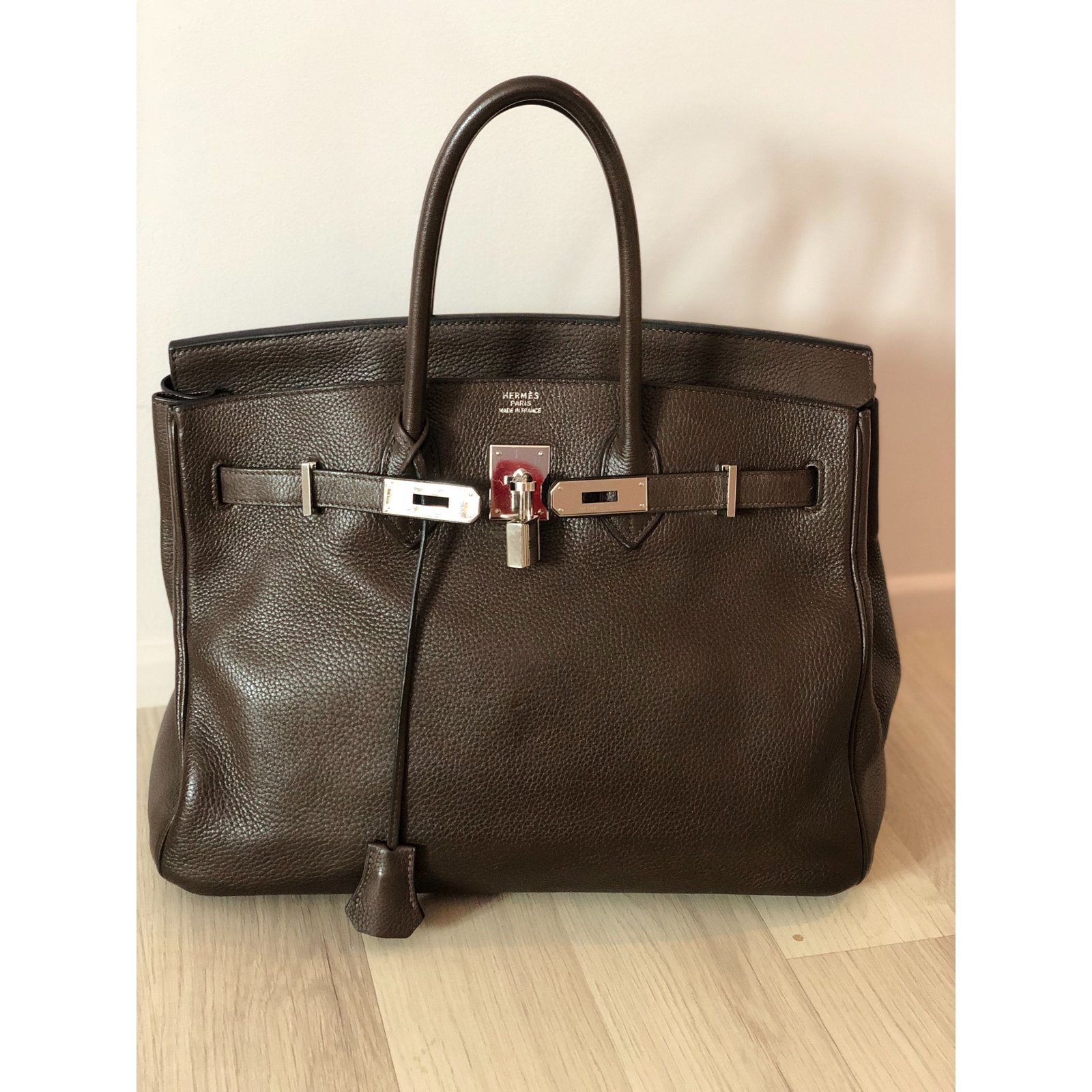 853162f0140 Hermès Sac à main Handbags Leather Brown ref.85069 - Joli Closet