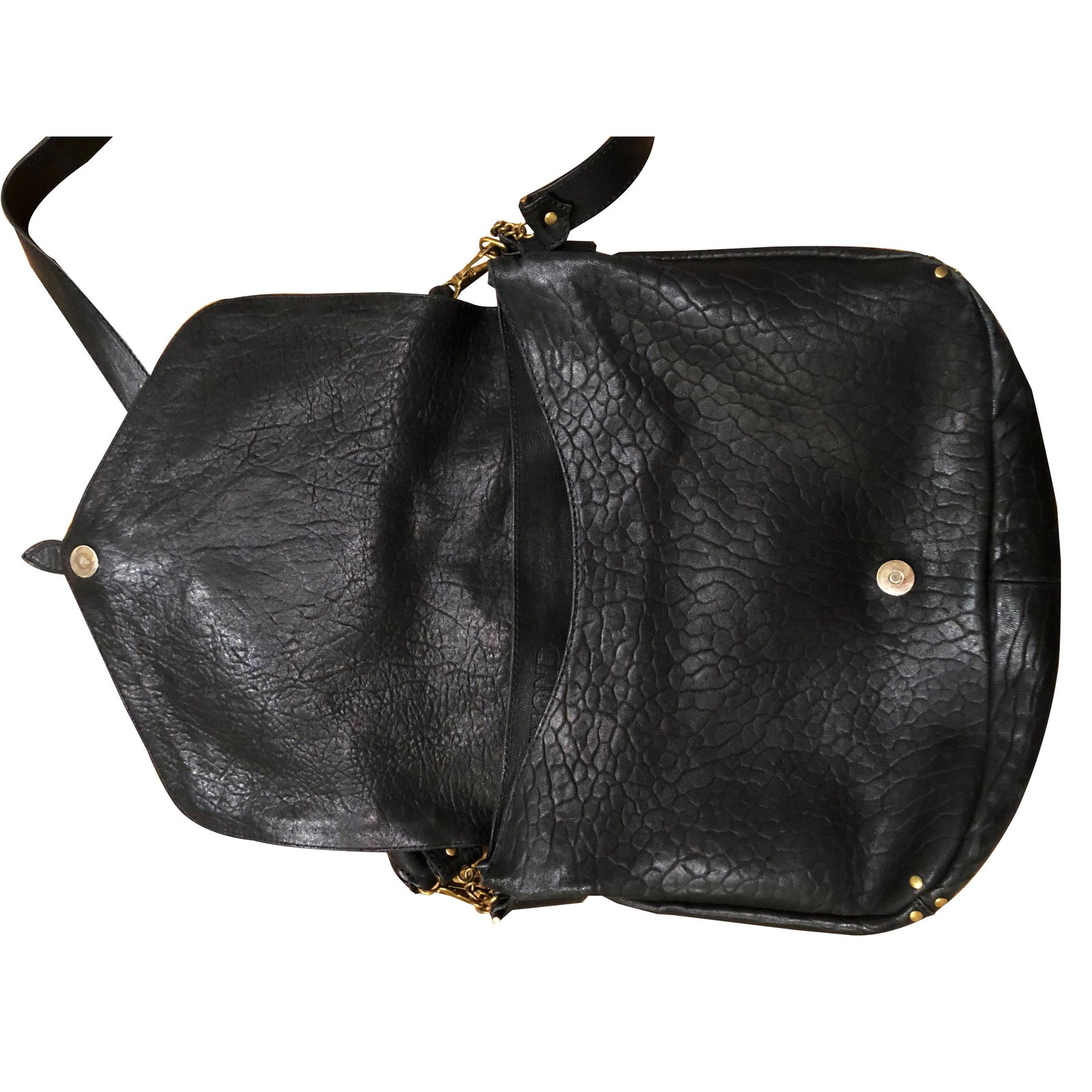 0efdc09af13ec Jerome Dreyfuss Raymond Handbags Leather Black ref.85460 - Joli Closet