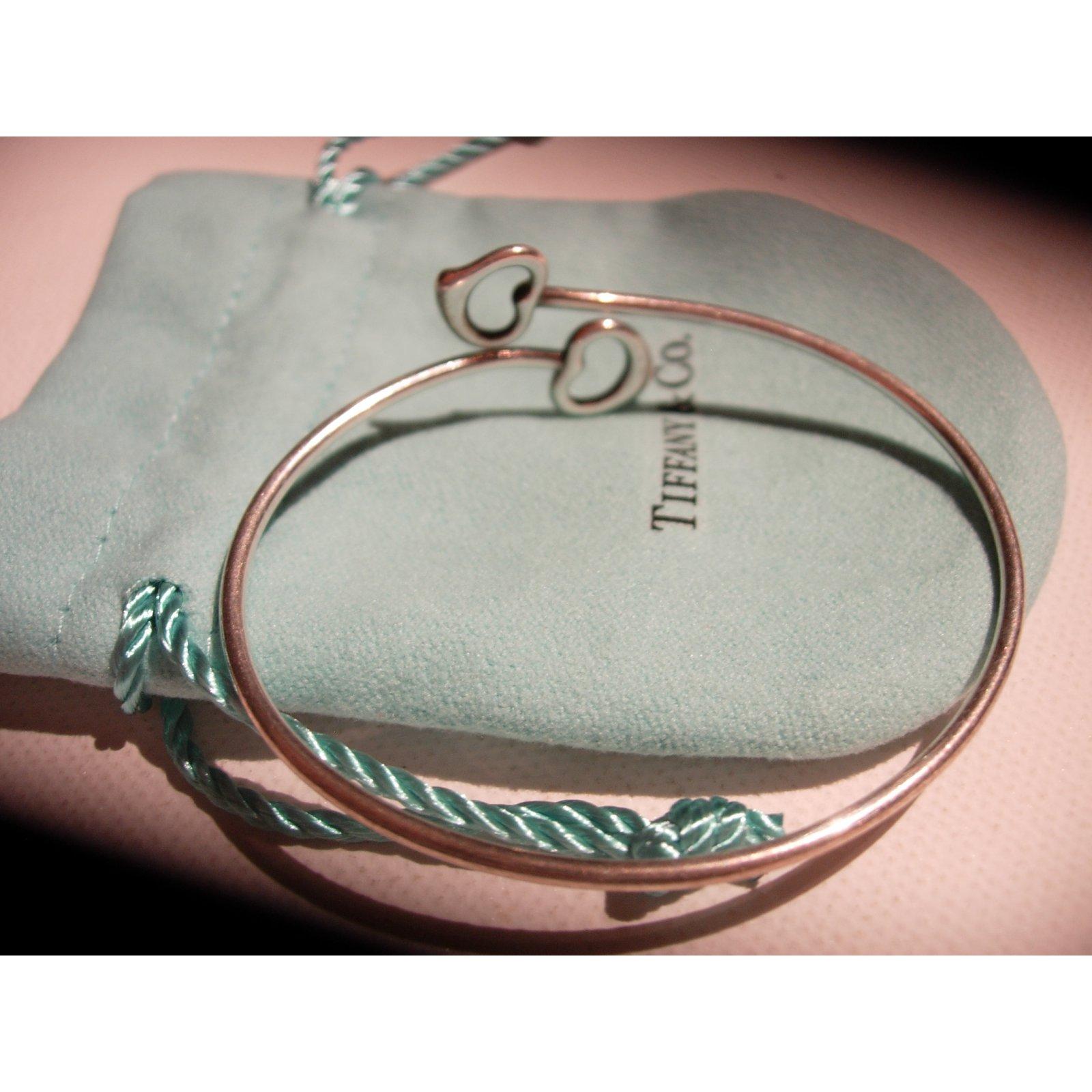 9c45f4562 Bracelets Tiffany & Co Open Heart / Cœur ouvert par Elsa Peretti Argent  Argenté ref.86021 - Joli Closet