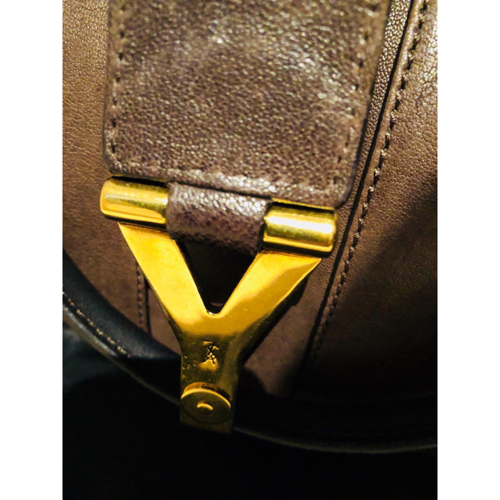 366fbbb4dacd Facebook · Pin This. Yves Saint Laurent CHYC handbag Handbags Leather Dark  brown ...