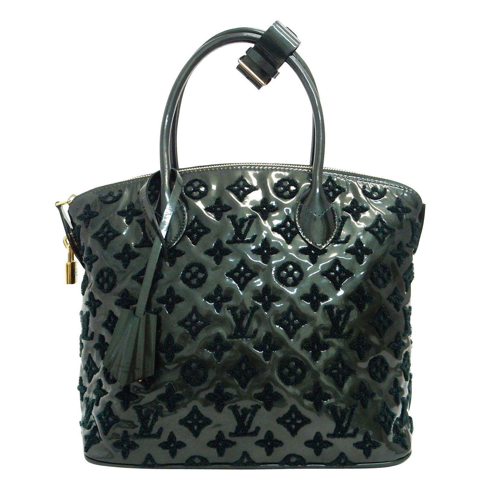 Louis Vuitton Fascination Lockit Handbags Cloth Green ref.86768 ... 040d2de4c5085