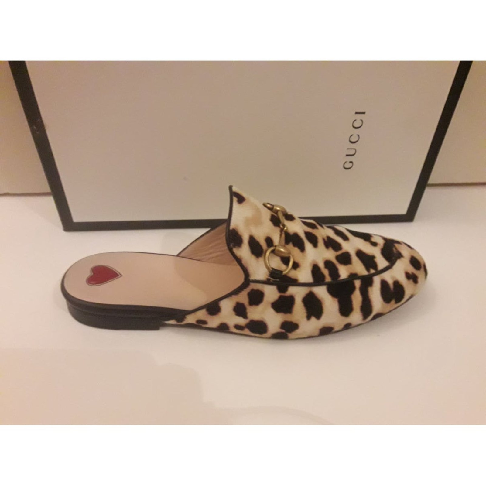 d7667edabfb6 Gucci Princetown leopard print Mules Pony-style calfskin Multiple colors  ref.87586 - Joli Closet