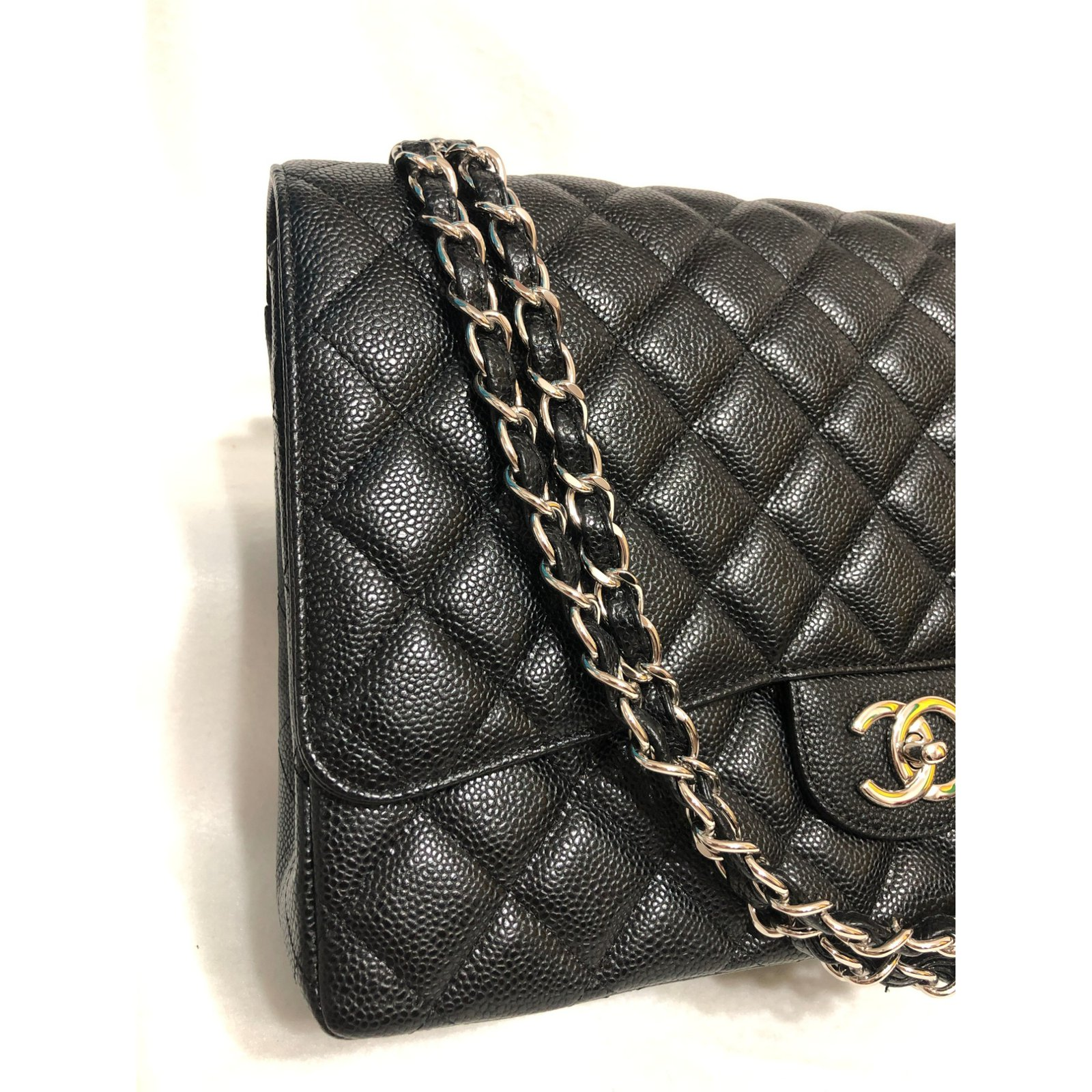 73170926b6ed Chanel Maxi Timeless double flap Handbags Leather Black ref.87923 ...