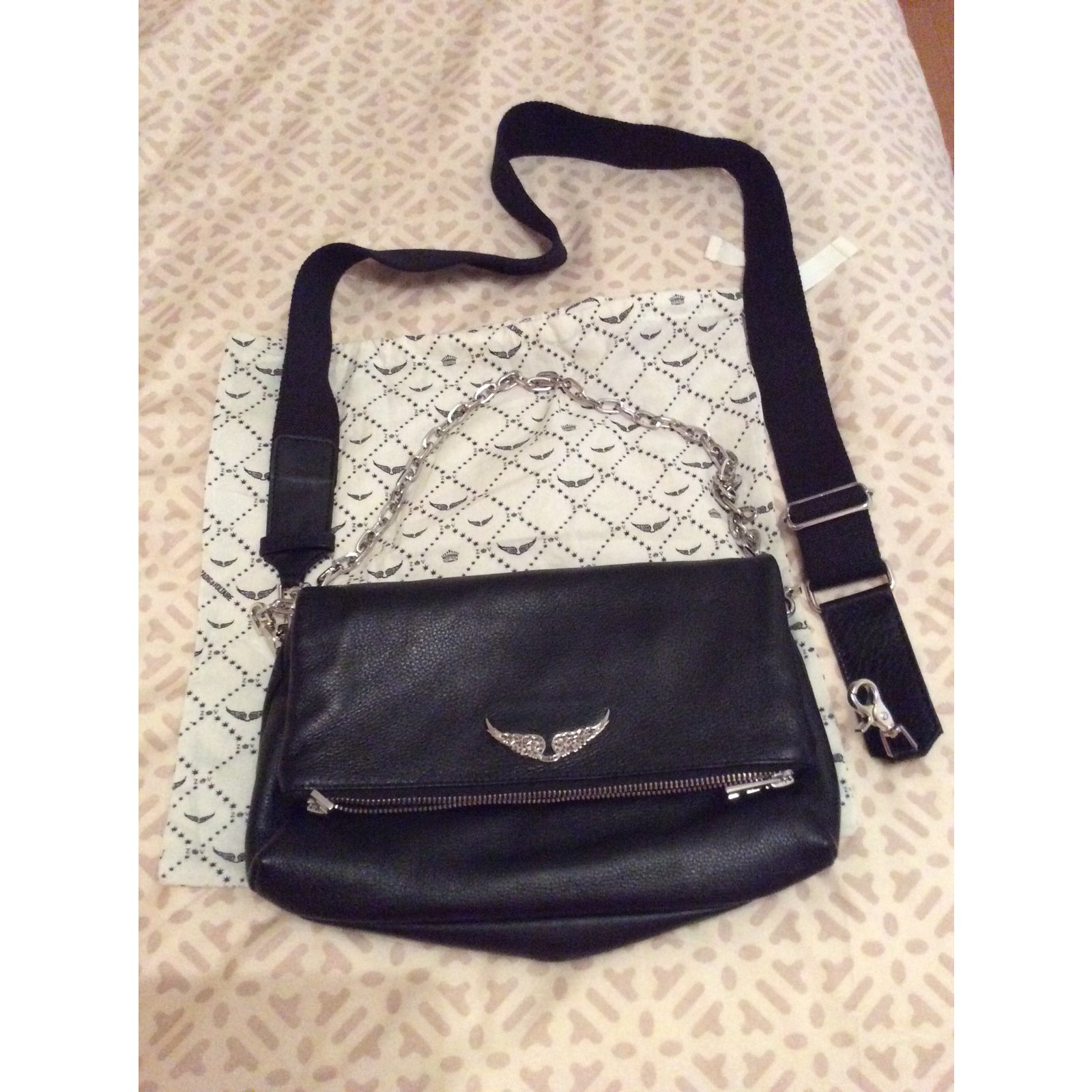 Zadig Voltaire Rocky Handbags Leather Black Ref 88614 Joli Closet