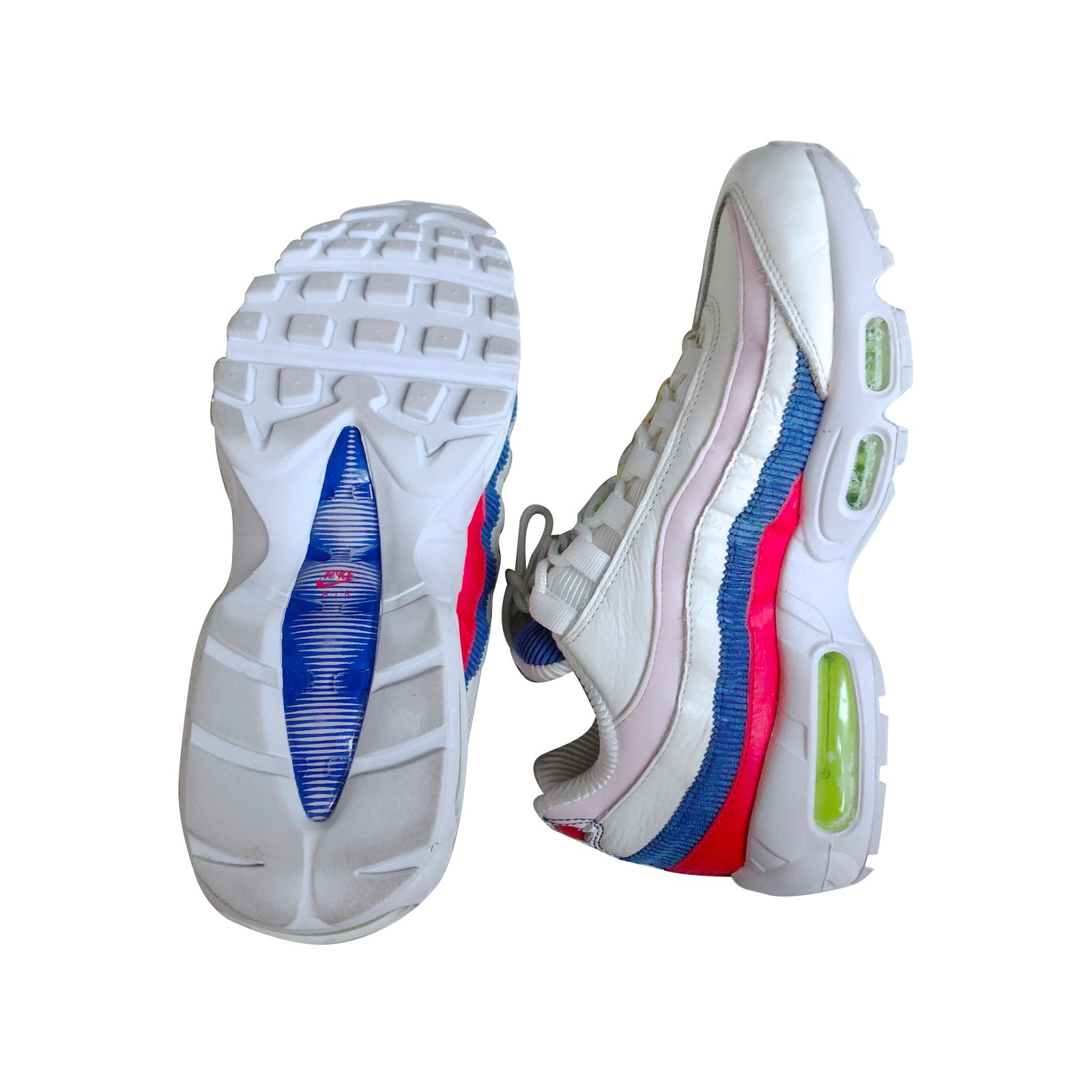 Baskets Nike Air Max 95 SE Cuir Multicolore ref.88923 Joli