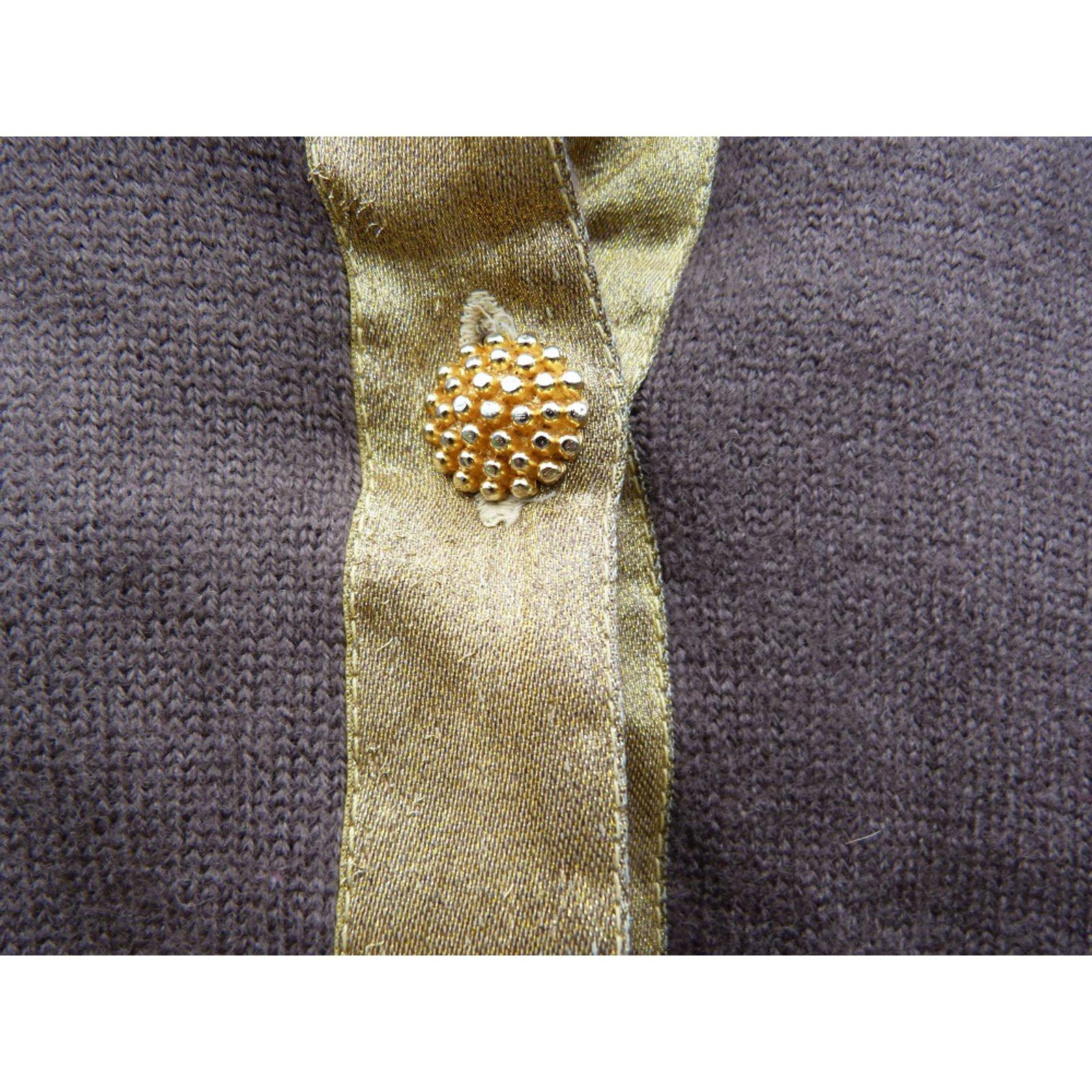 6959a9fd79d76e Yves Saint Laurent Knitwear Knitwear Wool Brown,Golden ref.89412 - Joli  Closet