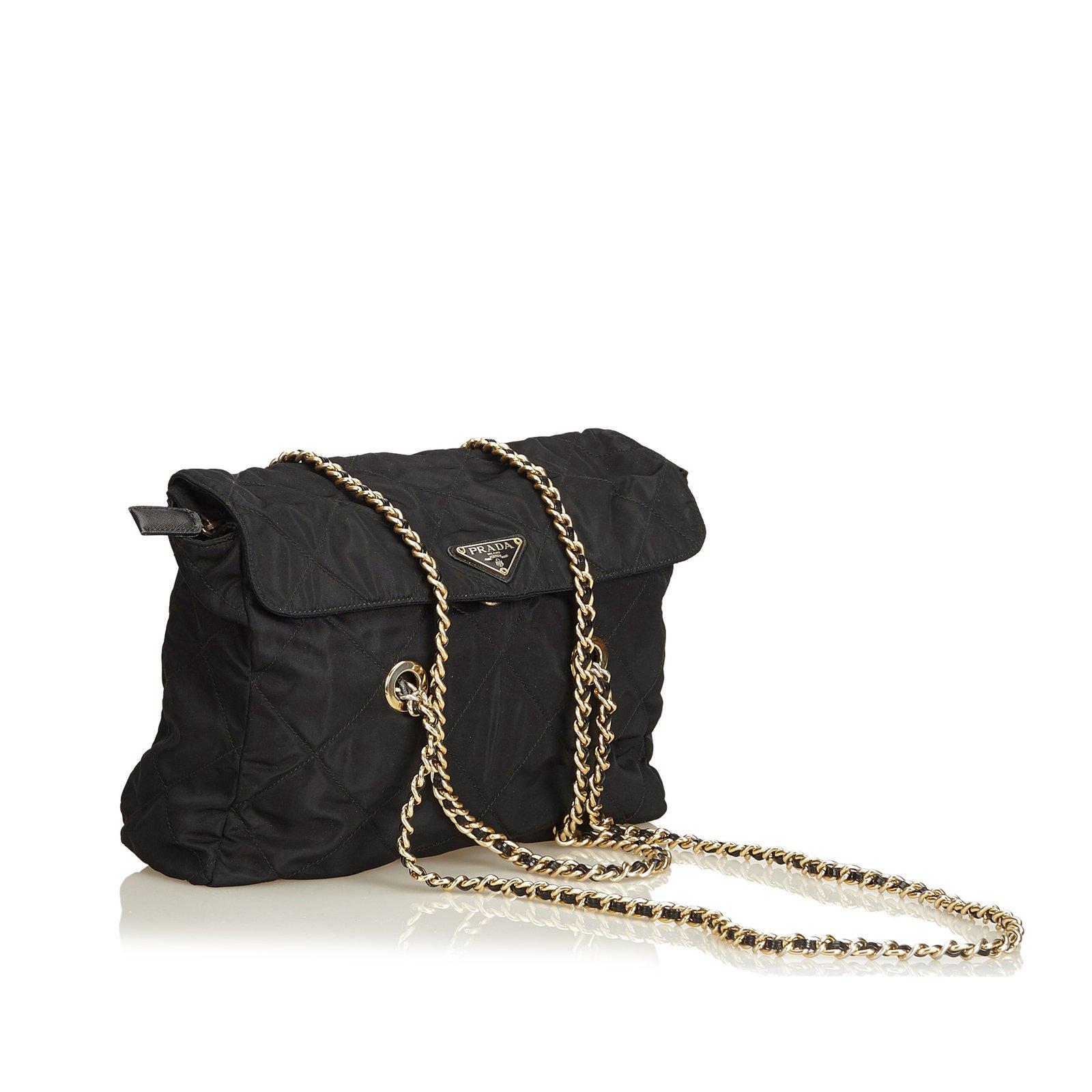 23344385265b Prada Quilted Nylon Chain Tote Bag Totes nylon
