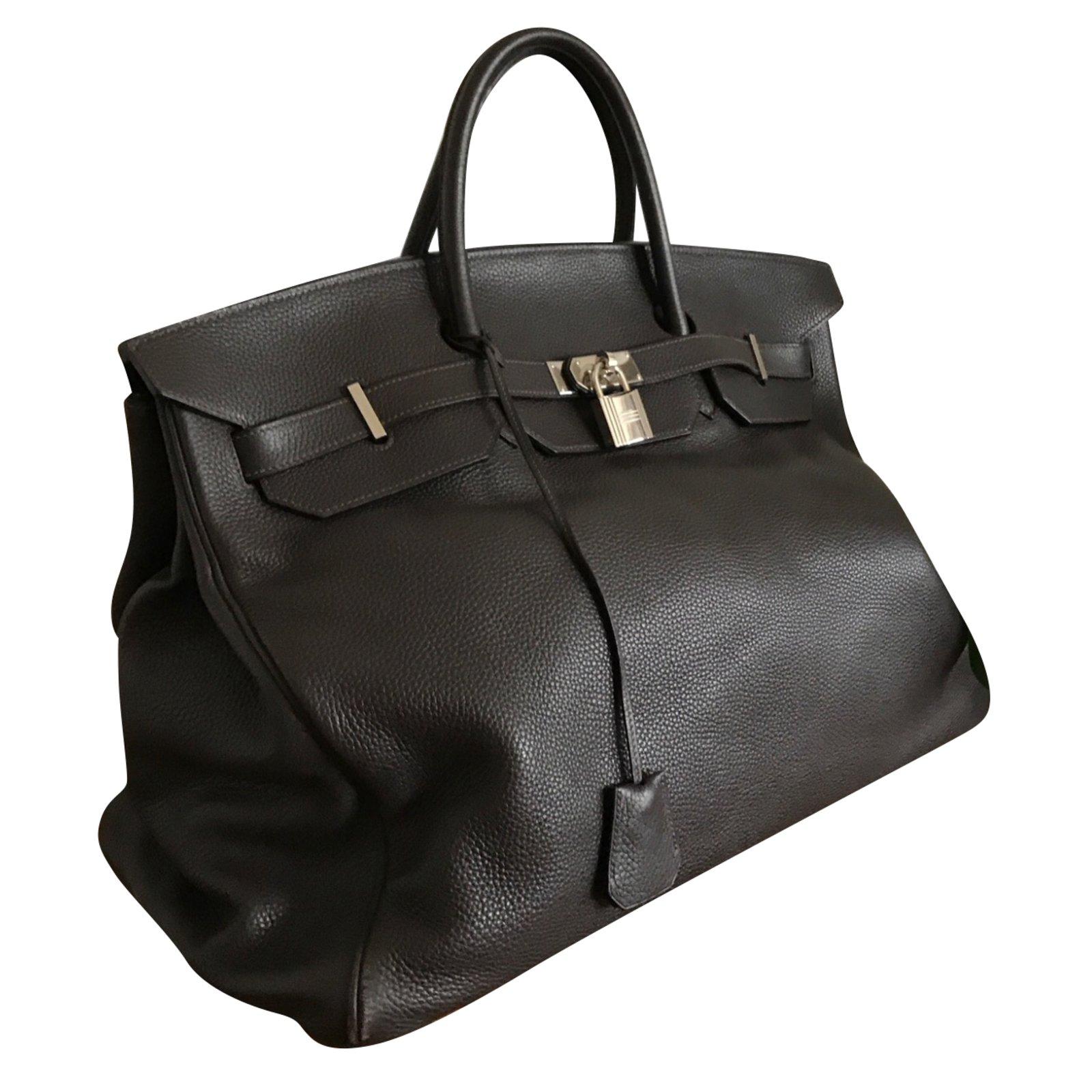 9969b541b37 Hermès Birkin bag 48 hours(Week-end) Travel bag Leather Dark brown  ref.89654 - Joli Closet