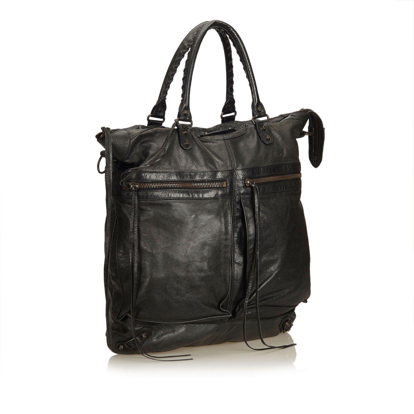 6344694154 Balenciaga Leather Motocross Oversized Square Satchel Handbags  Leather,Other Black ref.90047 - Joli Closet