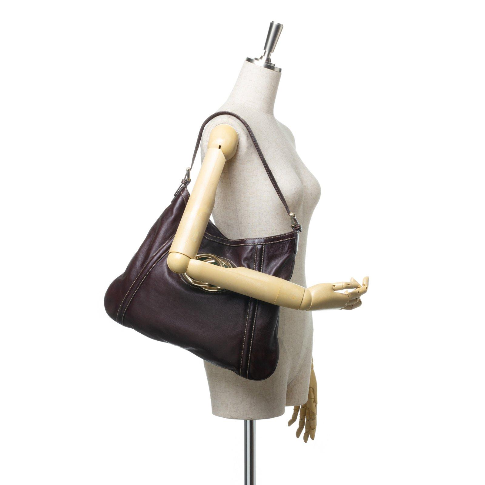 a7986a1ead2 Gucci Medium Britt Hobo Handbags Leather