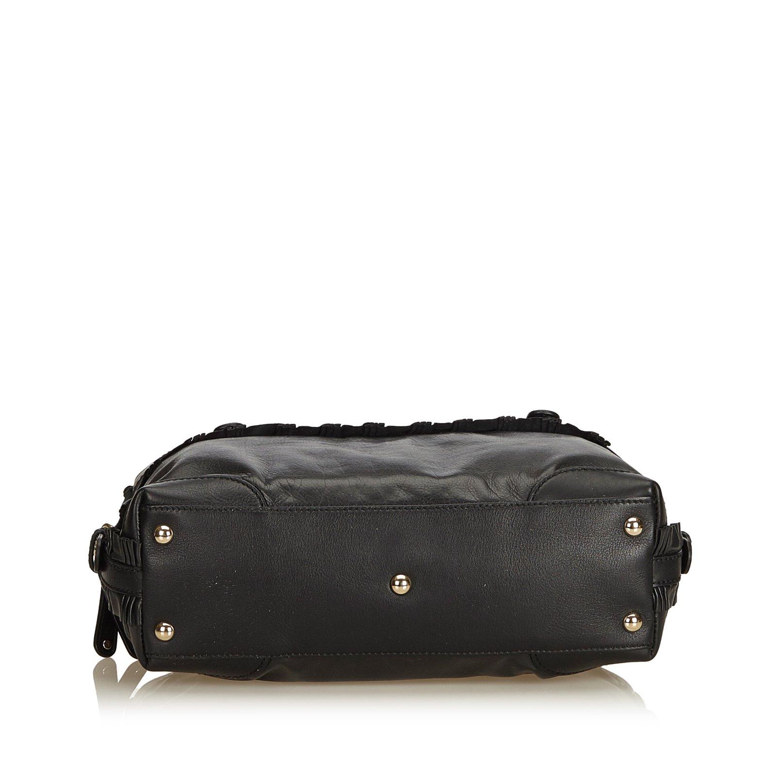 f784c4e2a Gucci Leather Sabrina Shoulder Bag Handbags Leather,Other Black ref.90304 -  Joli Closet