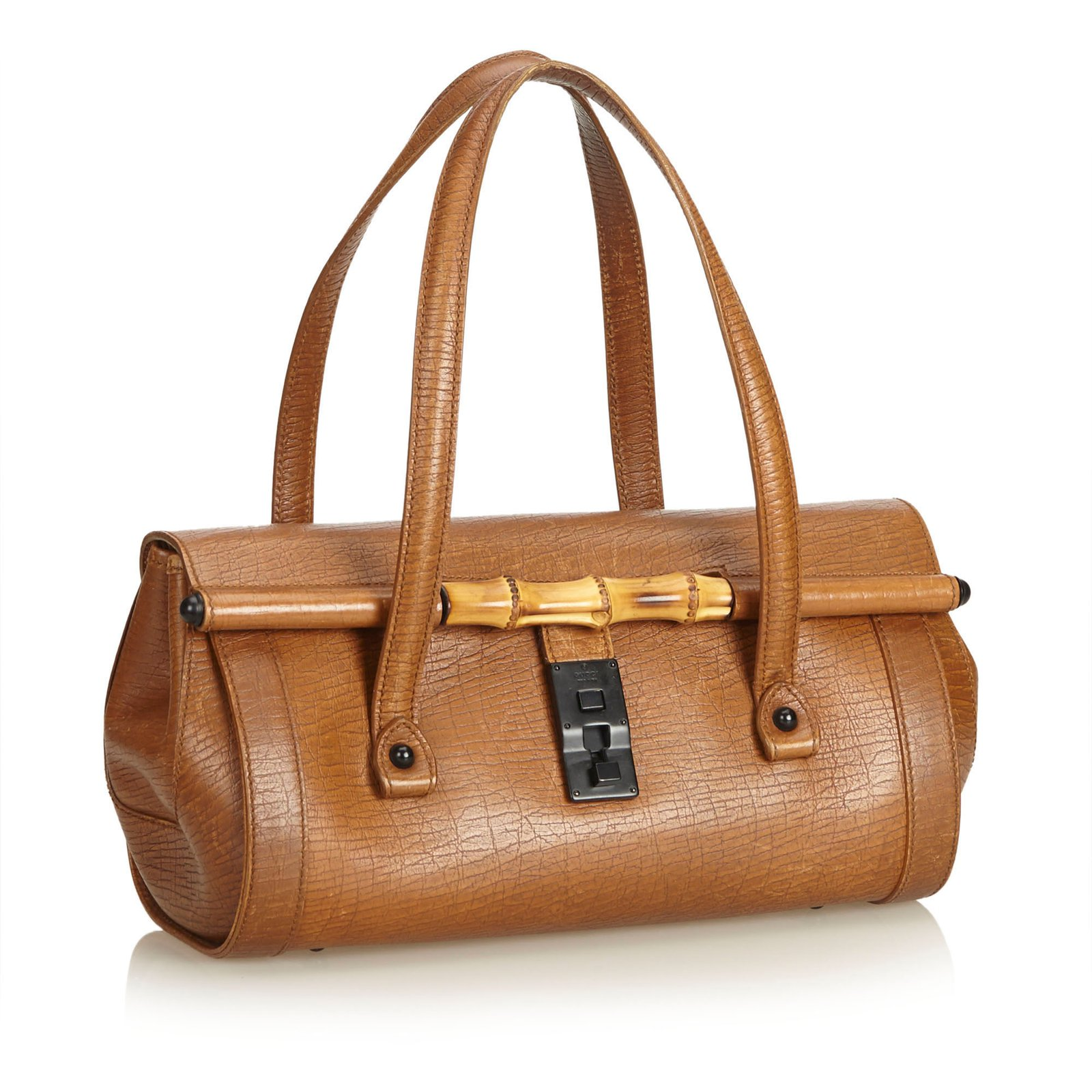 65df47d8cdc Gucci Leather Bamboo Bullet Bag Handbags Leather