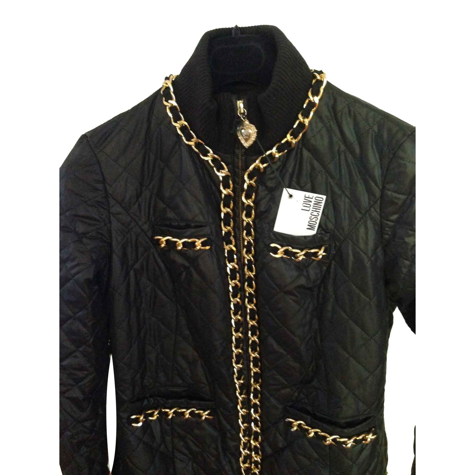 21a3b602f3 Love Moschino jacket Jackets Polyester Black ref.90608 - Joli Closet