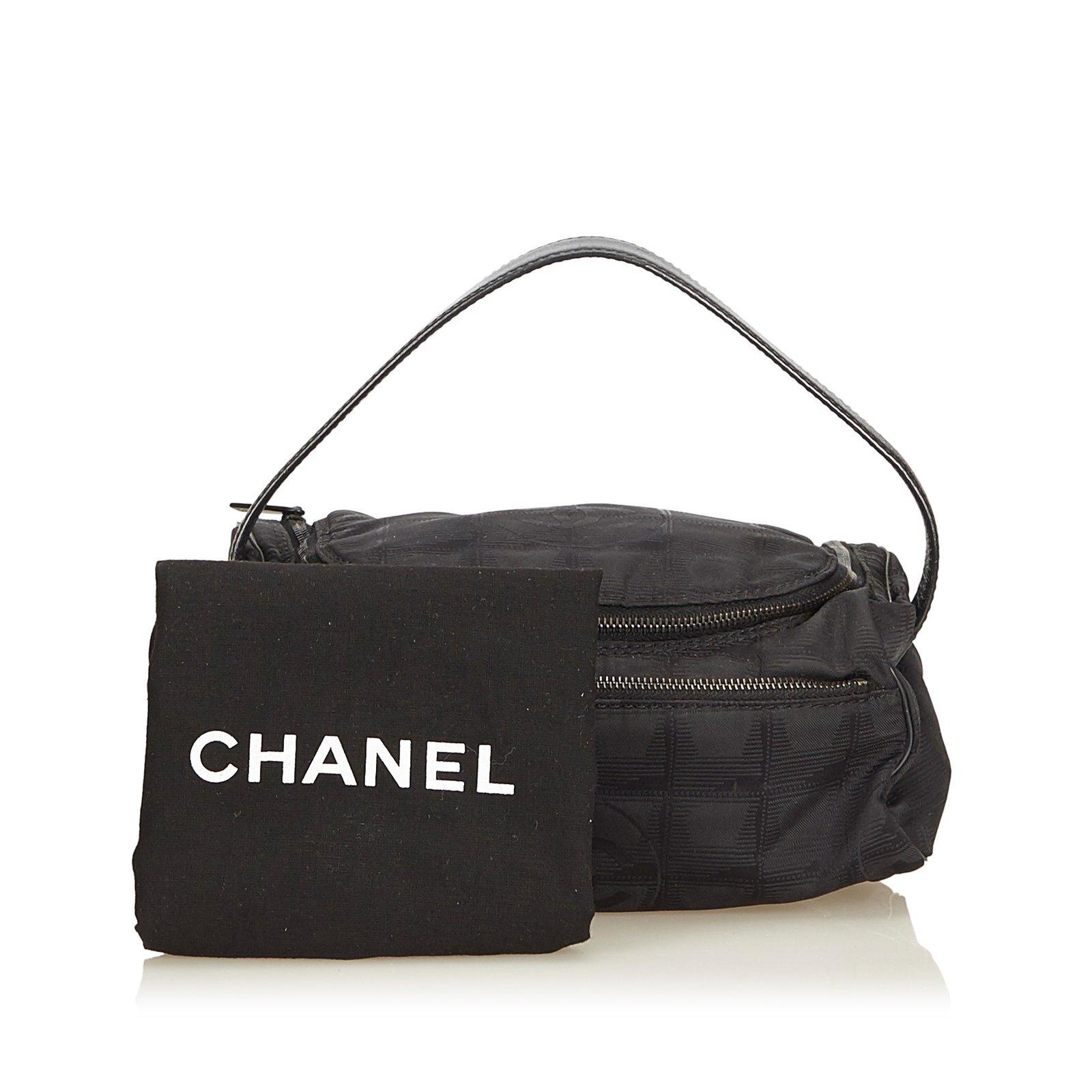 bf06fa9dc773 Chanel New Travel Line Vanity Bag Handbags Leather,Other,Cloth Black ...