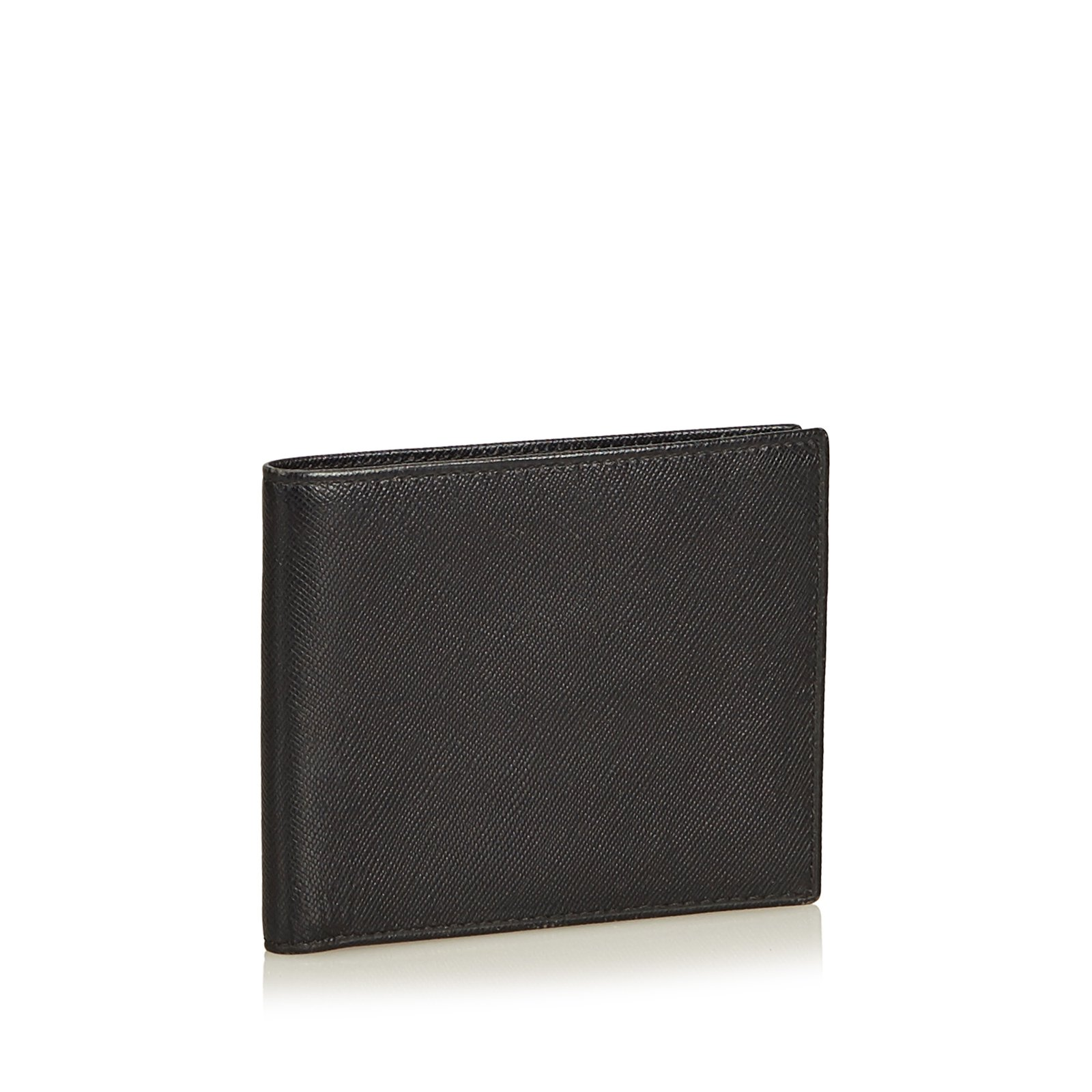 8d05a3e824c8 Prada Leather Small Wallet Wallets Small accessories Leather,Other Black  ref.91026 - Joli Closet
