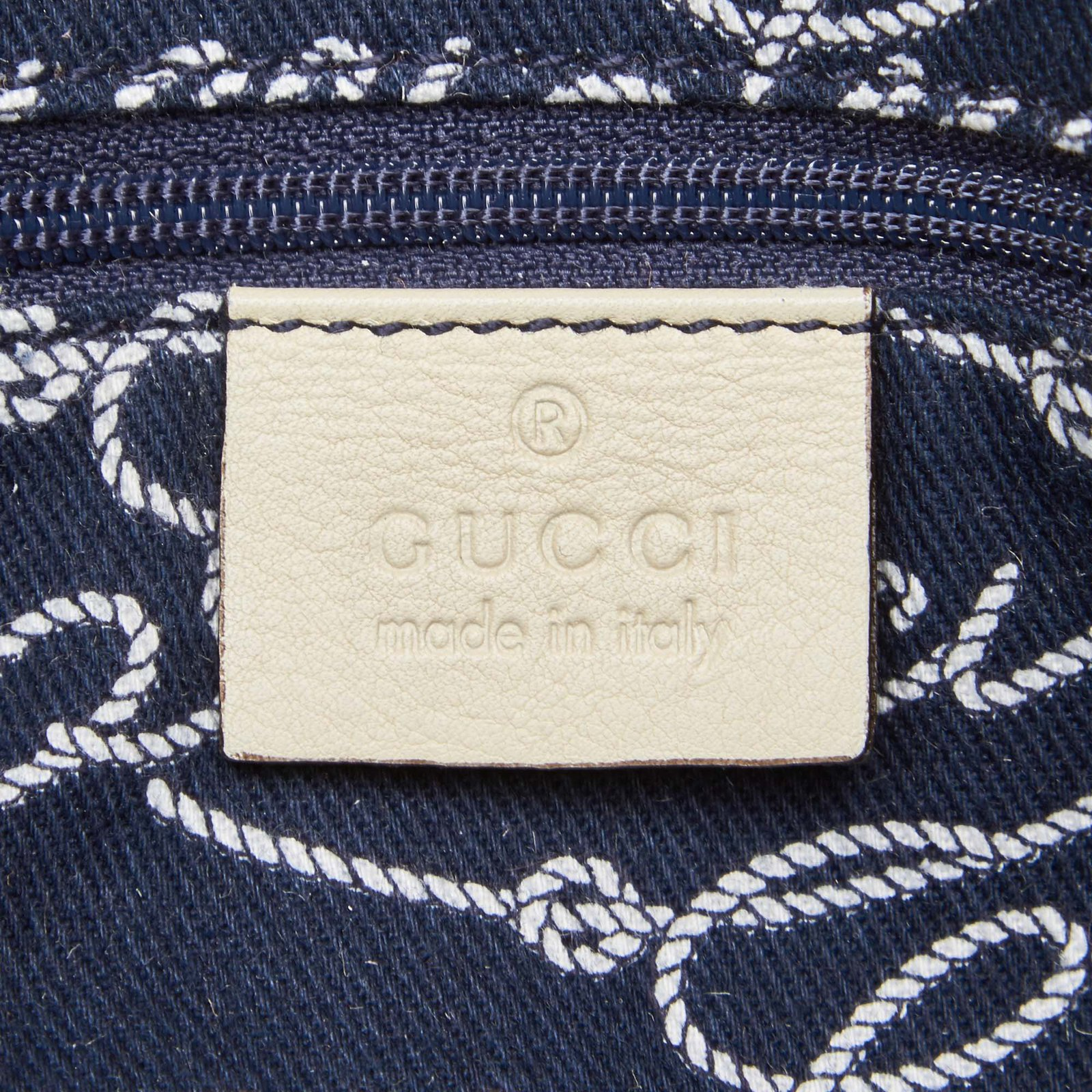 df1a2efd49e56c Gucci Script Logo Nylon Tote Totes Leather,Other,Nylon,Cloth White,Blue,Cream,Navy  blue ref.91118 - Joli Closet
