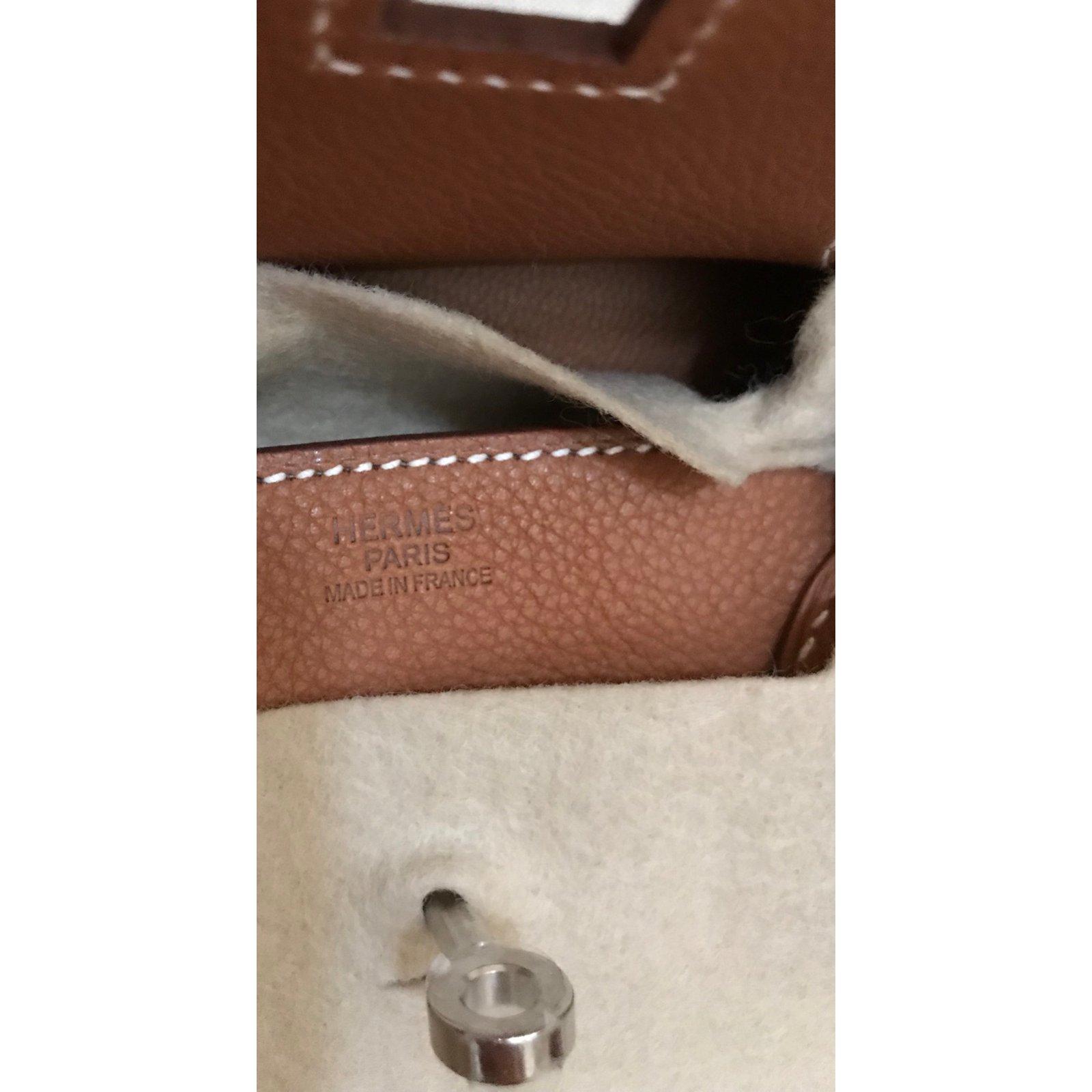e8ec62e8fee0 Hermès Birkin 30 Fauve Barenia with Palladium Hardware Totes Leather Brown  ref.91277 - Joli Closet