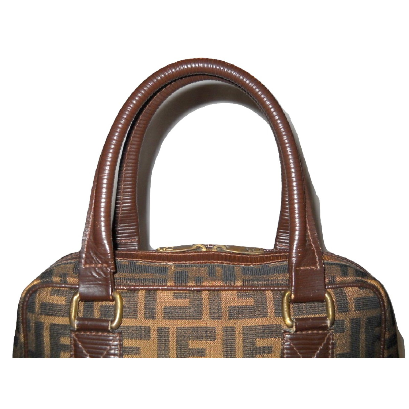 c021ebbc3a5e Fendi Vintage handbag Zucca brown Handbags Leather